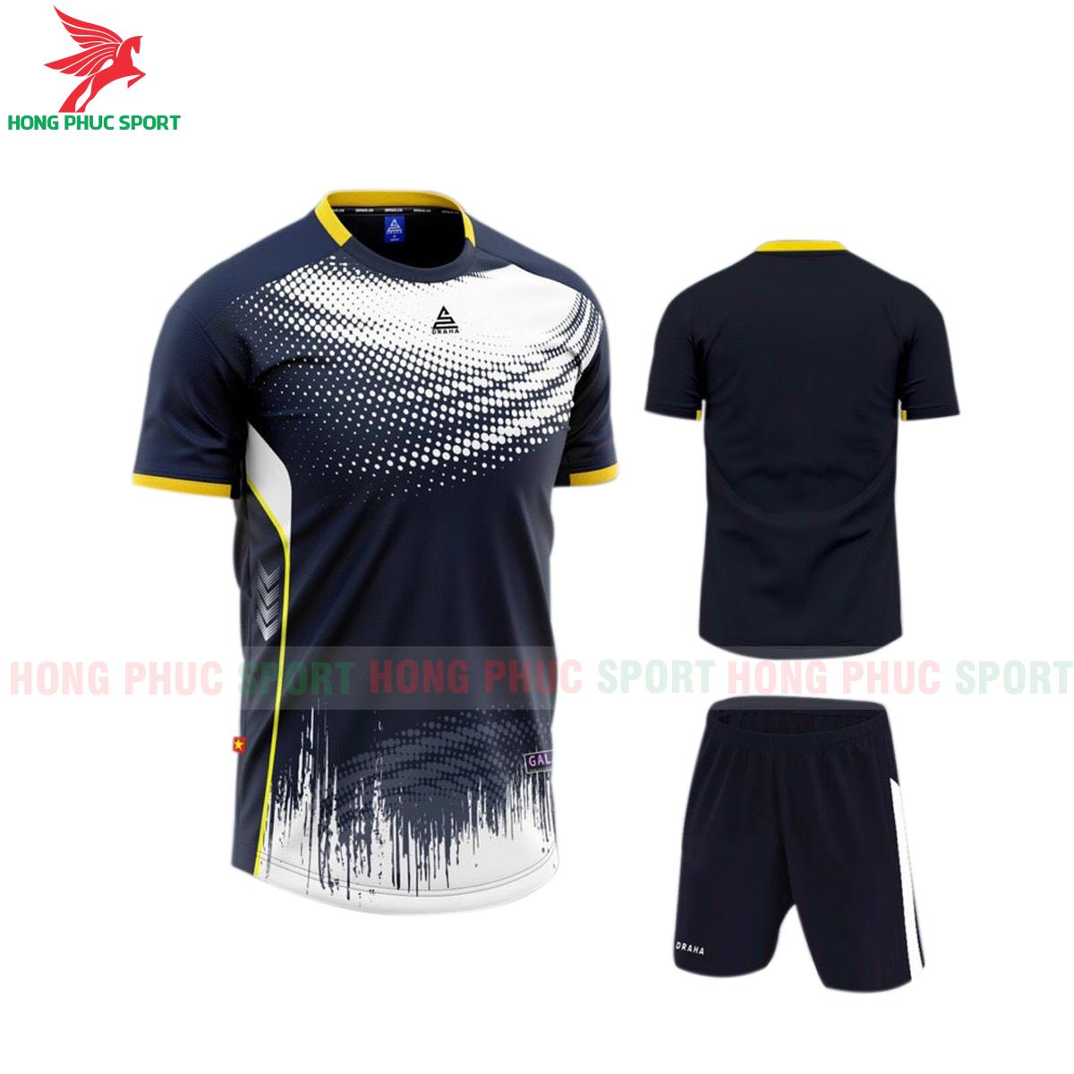 Áo đá banh không logo Draha Galaxy 2021 màu đen