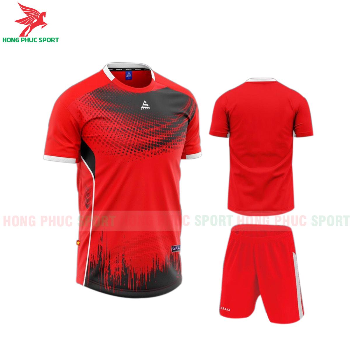 Áo đá banh không logo Draha Galaxy 2021 màu đỏ