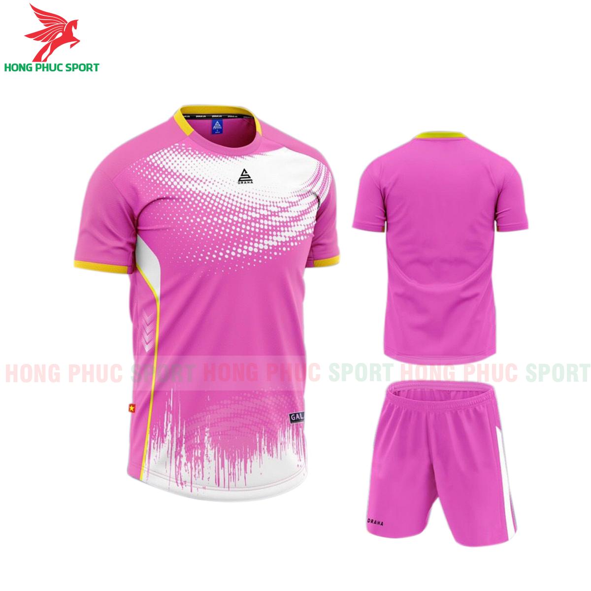 Áo đá banh không logo Draha Galaxy 2021 màu hồng
