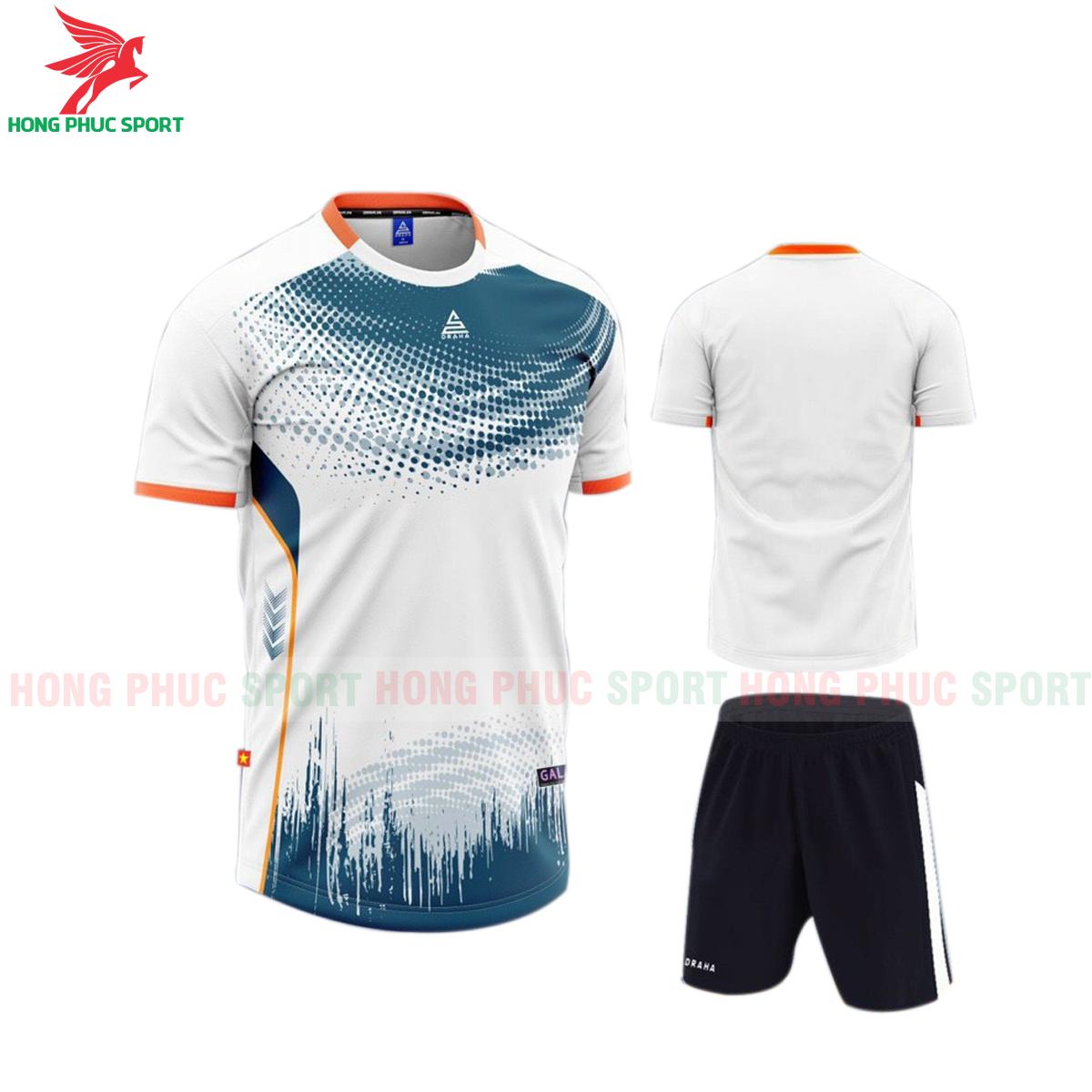 Áo đá banh không logo Draha Galaxy 2021 màu trắng