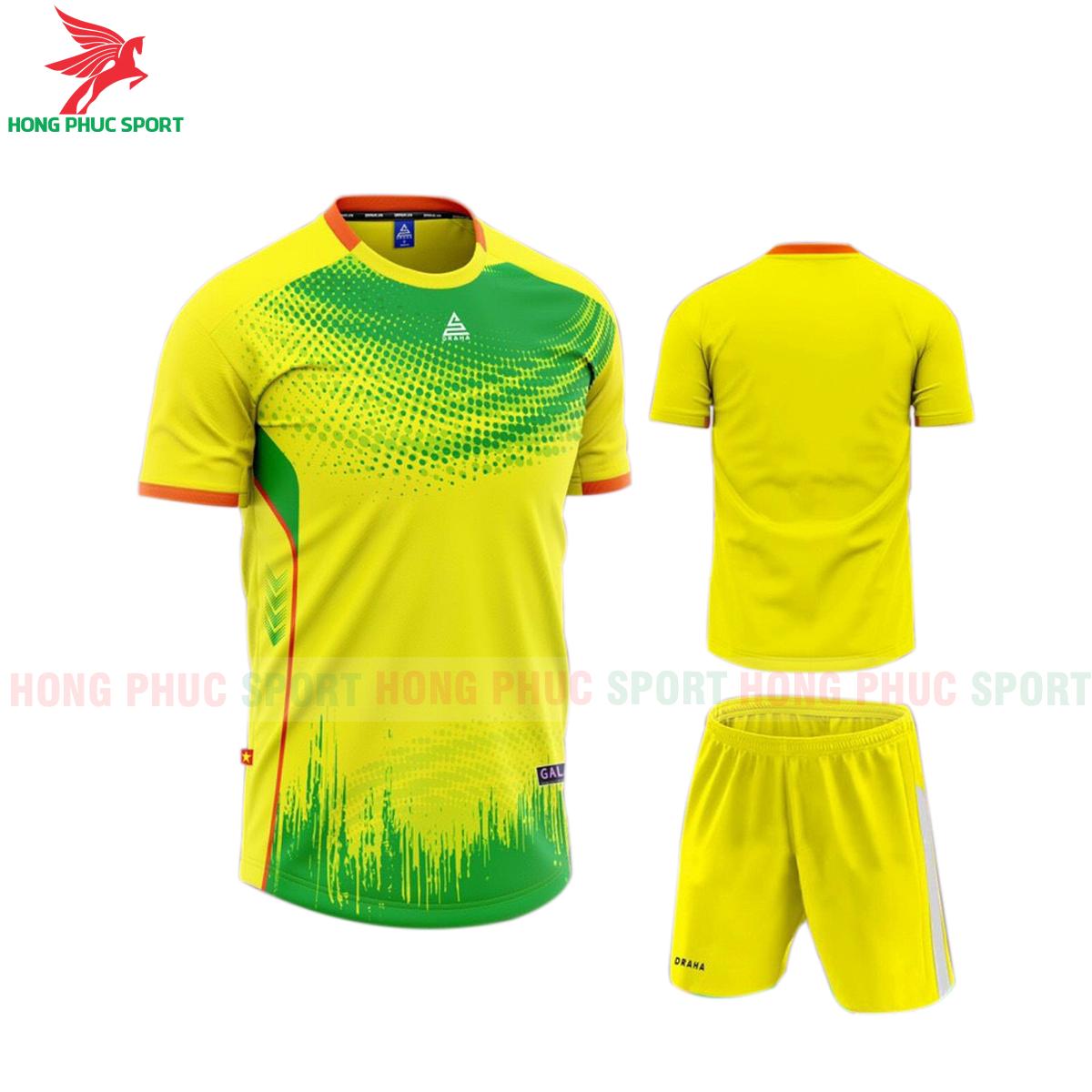Áo đá banh không logo Draha Galaxy 2021 màu vàng