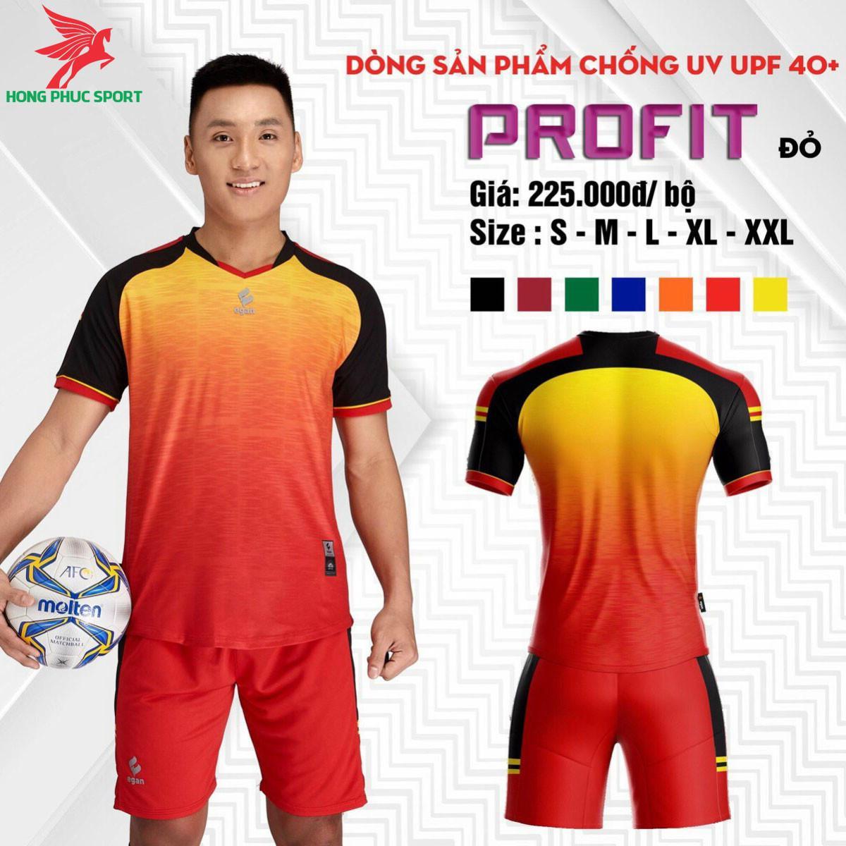Áo đá banh không logo CP EGAN PROFIT 2021 màu Đỏ