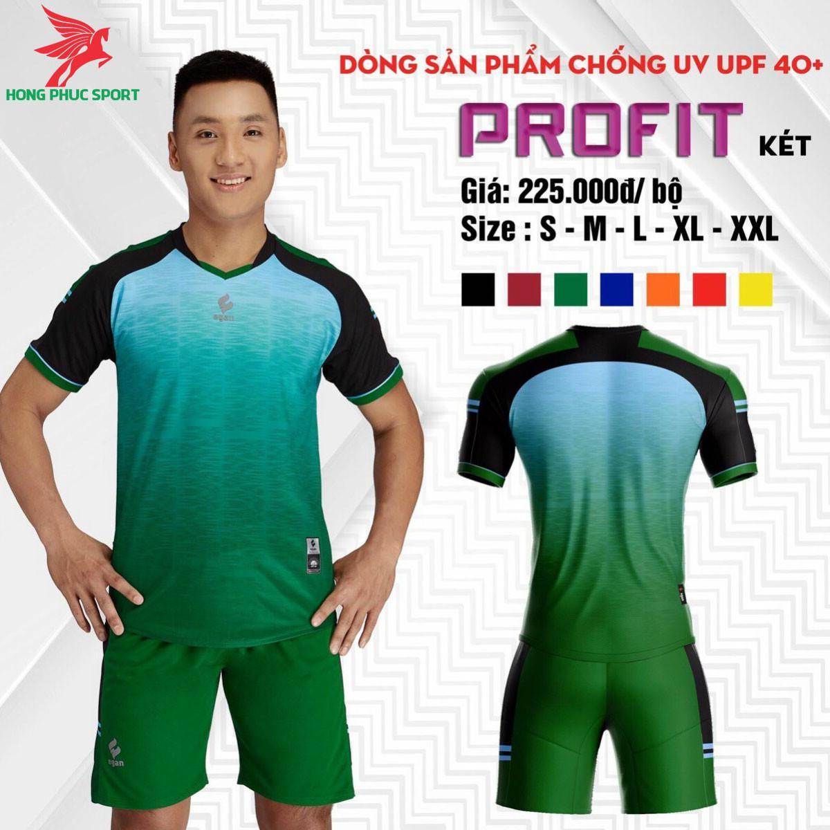 Áo đá banh không logo CP EGAN PROFIT 2021 màu Xanh lá