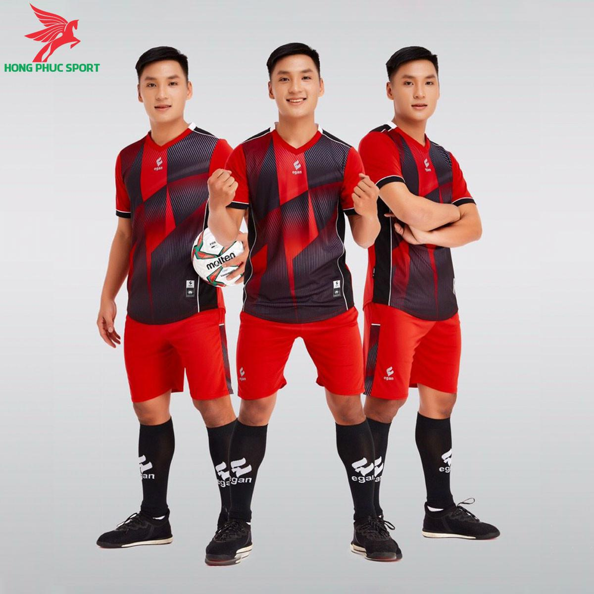 Áo đá banh không logo CP EGAN VICTORY2021 màu Đỏ