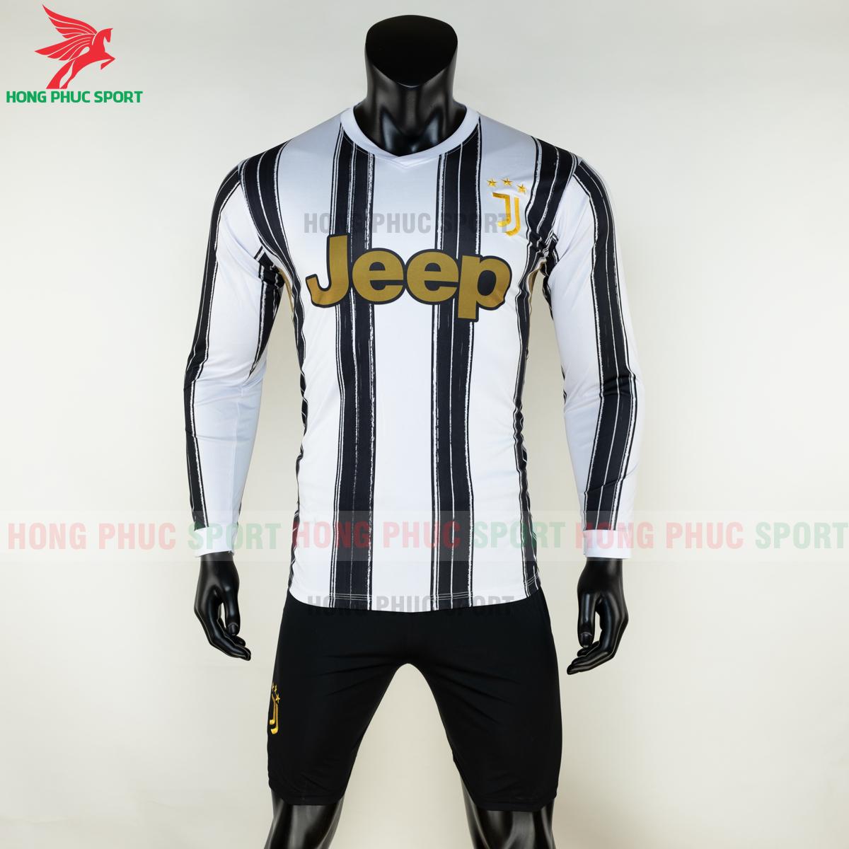 Áo đấu dài tay Juventus 2020 2021 sân nhà (trước)