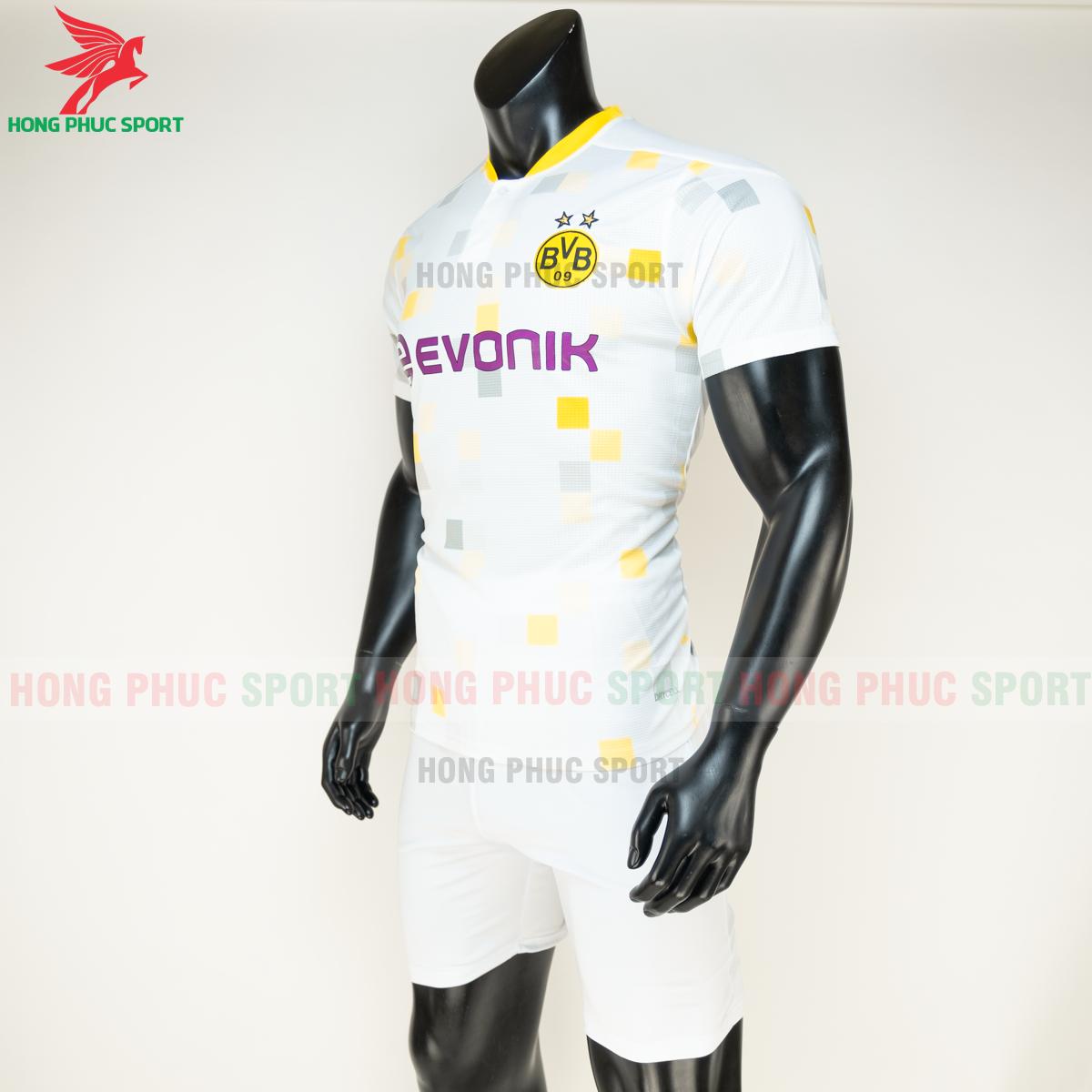 Áo đá banhDortmund đấu cup 2020 2021 sân khách (trái)