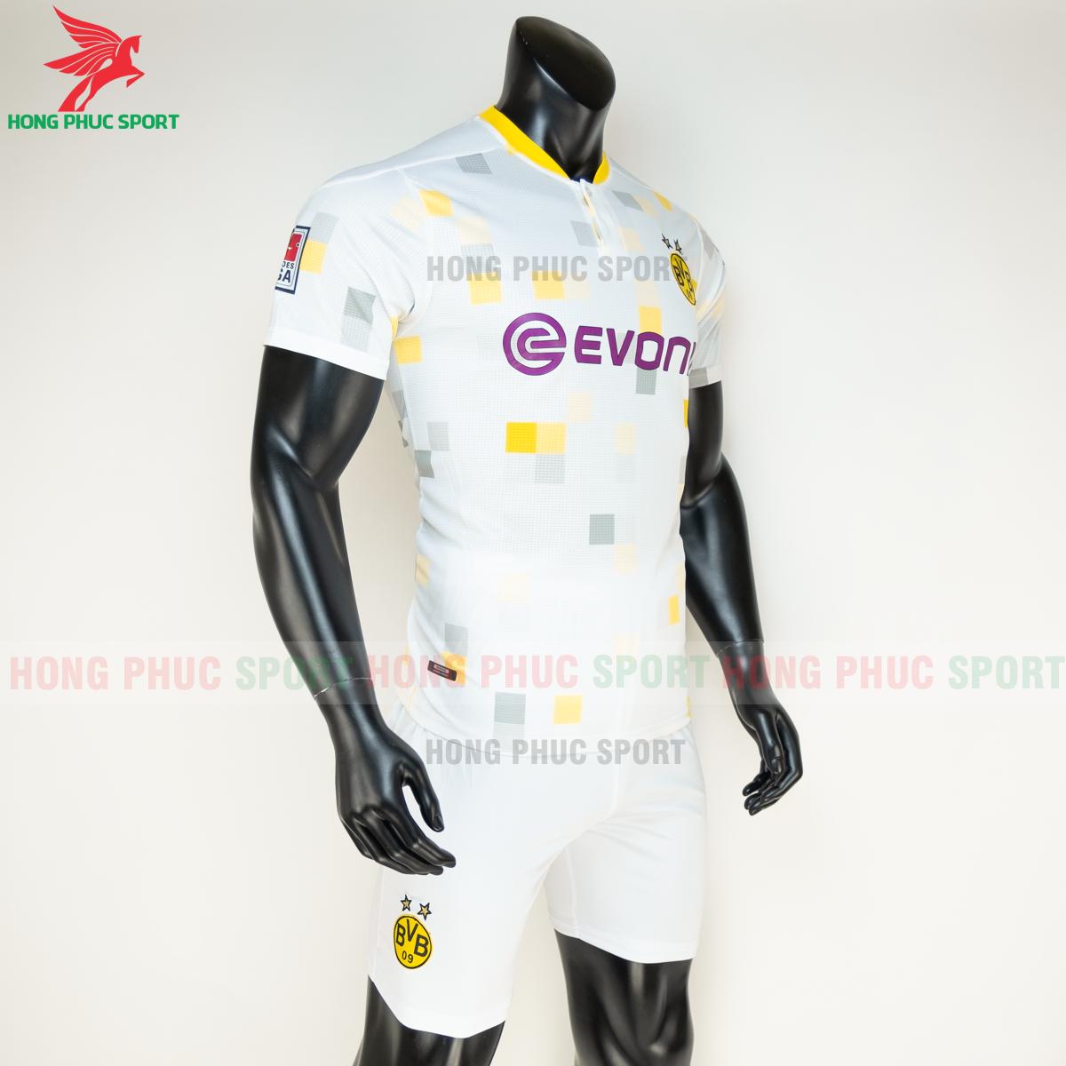 Áo đá banhDortmund đấu cup 2020 2021 sân khách (phải)