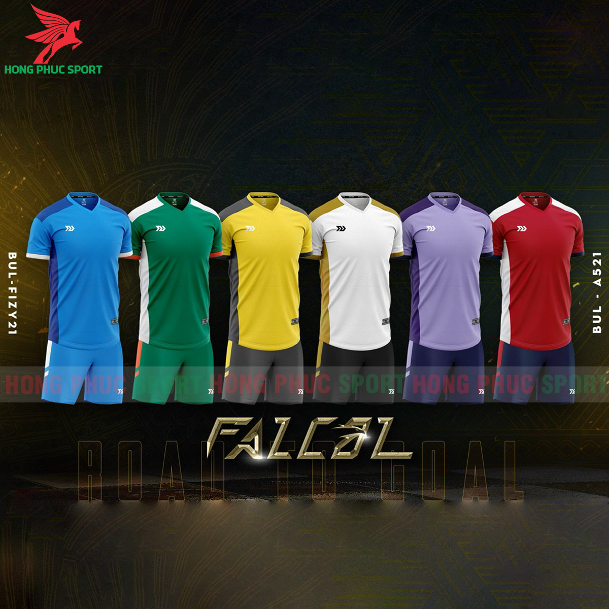 Áo đá banh không logo Bulbal Falcol 2021 màu đỏ