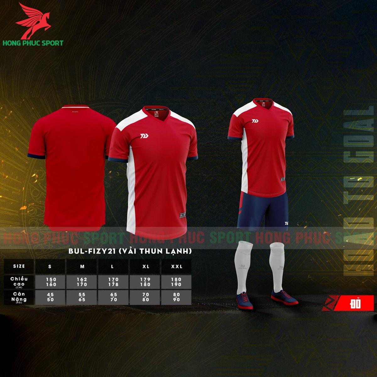 Áo đá banh không logo Bulbal Falcol 2021 màu đỏ (1)