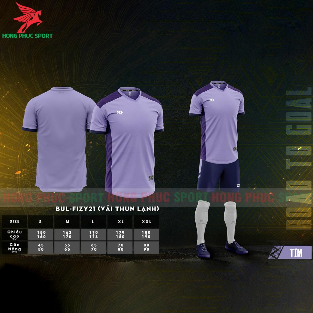 Áo đá banh không logo Bulbal Falcol 2021 màu tím (1)