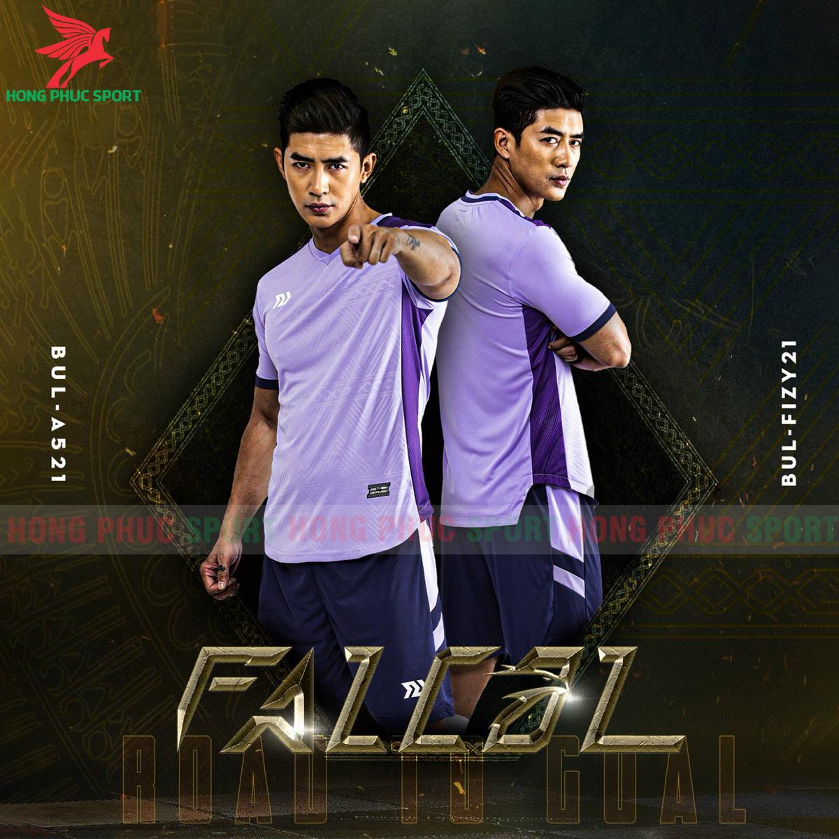 Áo đá banh không logo Bulbal Falcol 2021 màu tím (2)