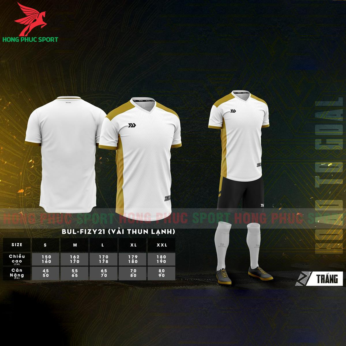 Áo đá banh không logo Bulbal Falcol 2021 màu trắng(1)