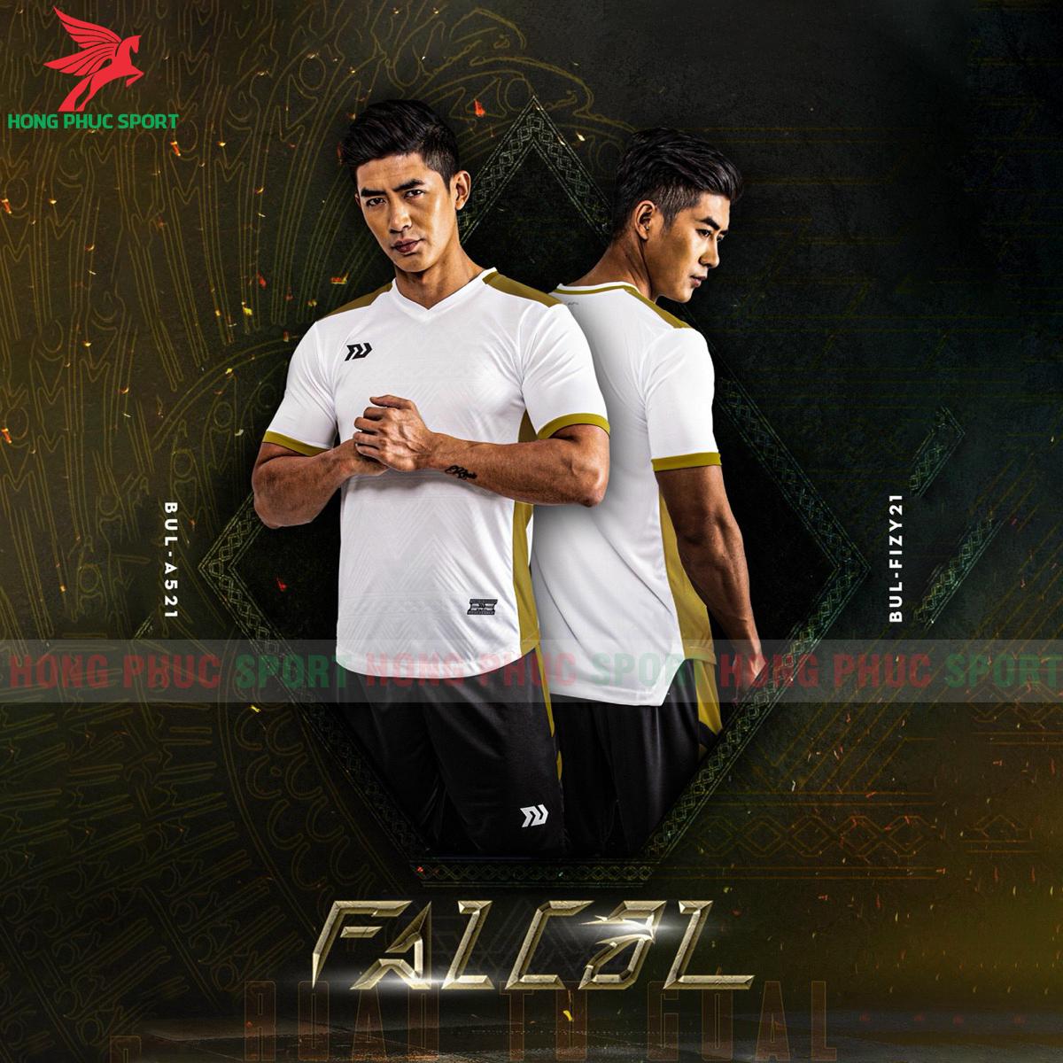 Áo đá banh không logo Bulbal Falcol 2021 màu trắng(2)
