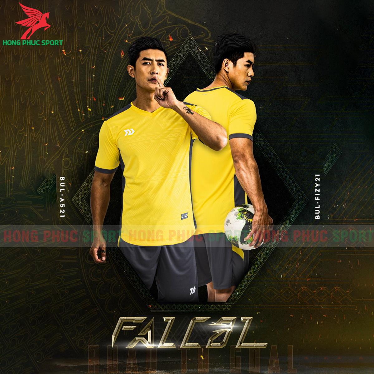 Áo đá banh không logo Bulbal Falcol 2021 màu vàng (2)