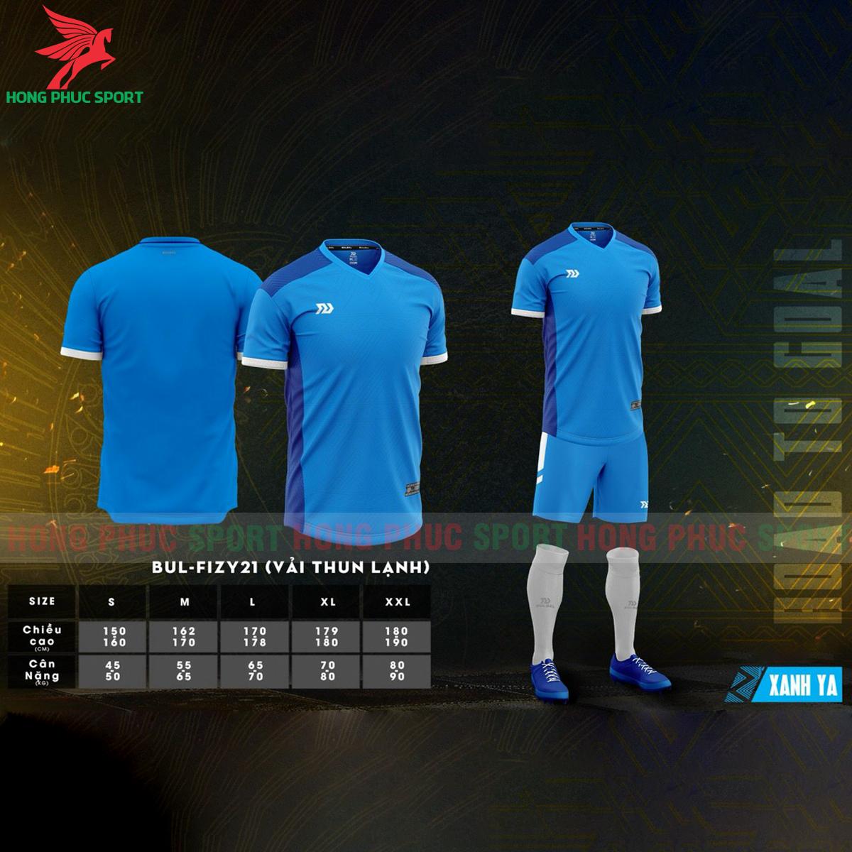 Áo đá banh không logo Bulbal Falcol 2021 màu xanh da(1)