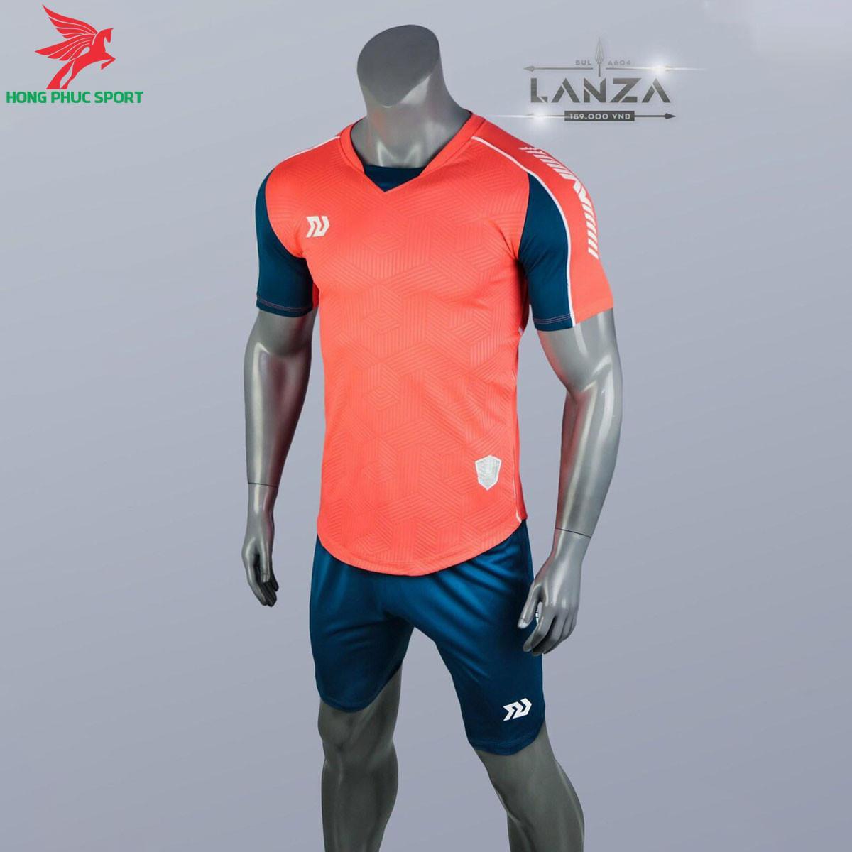 Áo đá banh không logo Bulbal Lanza 2021 màu Cam