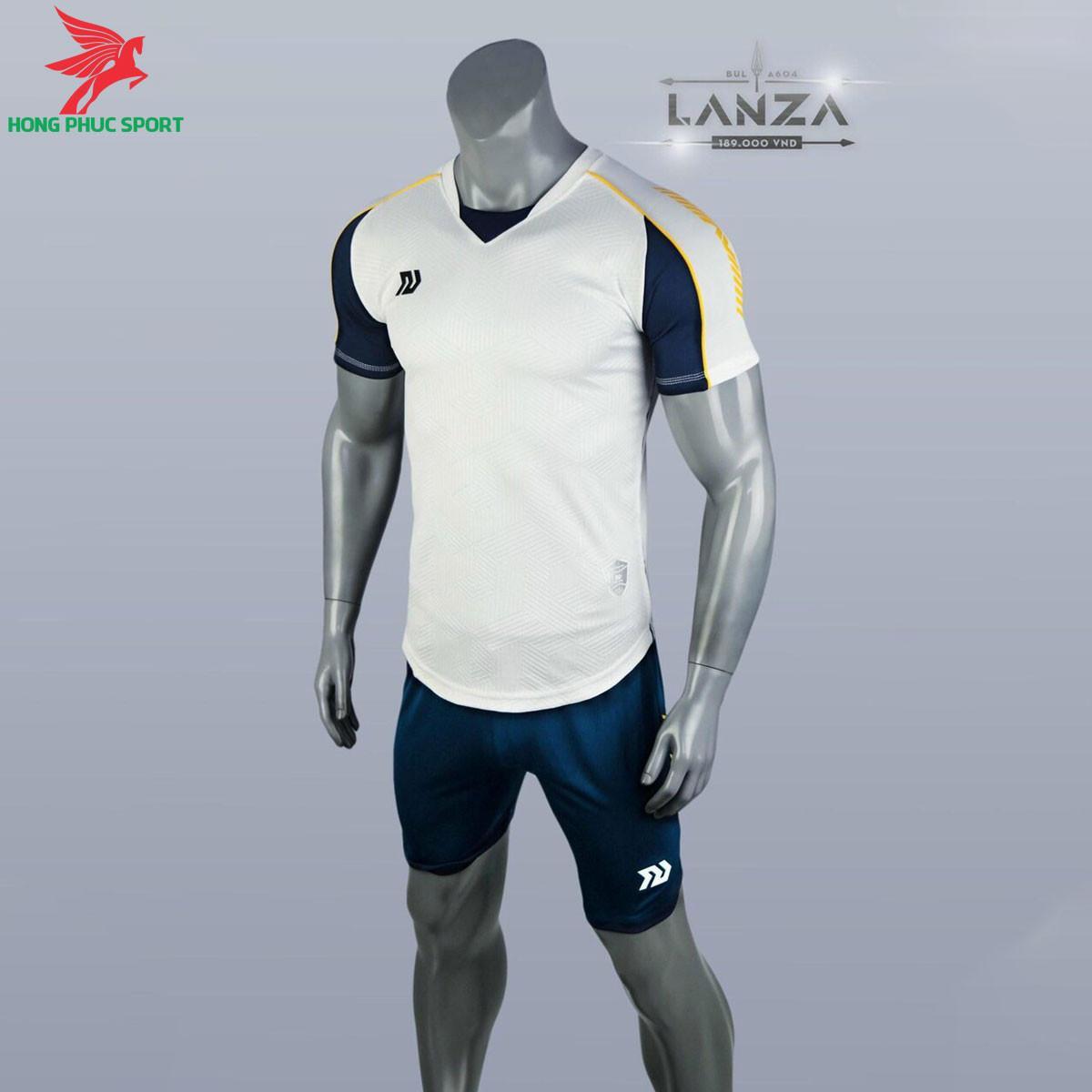 Áo đá banh không logo Bulbal Lanza 2021 màu Trắng