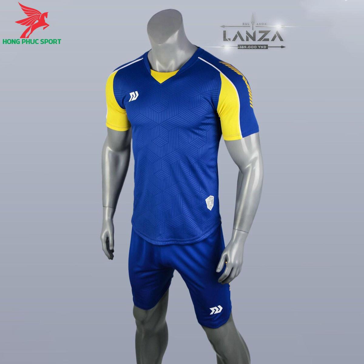 Áo đá banh không logo Bulbal Lanza 2021 màu Xanh bích