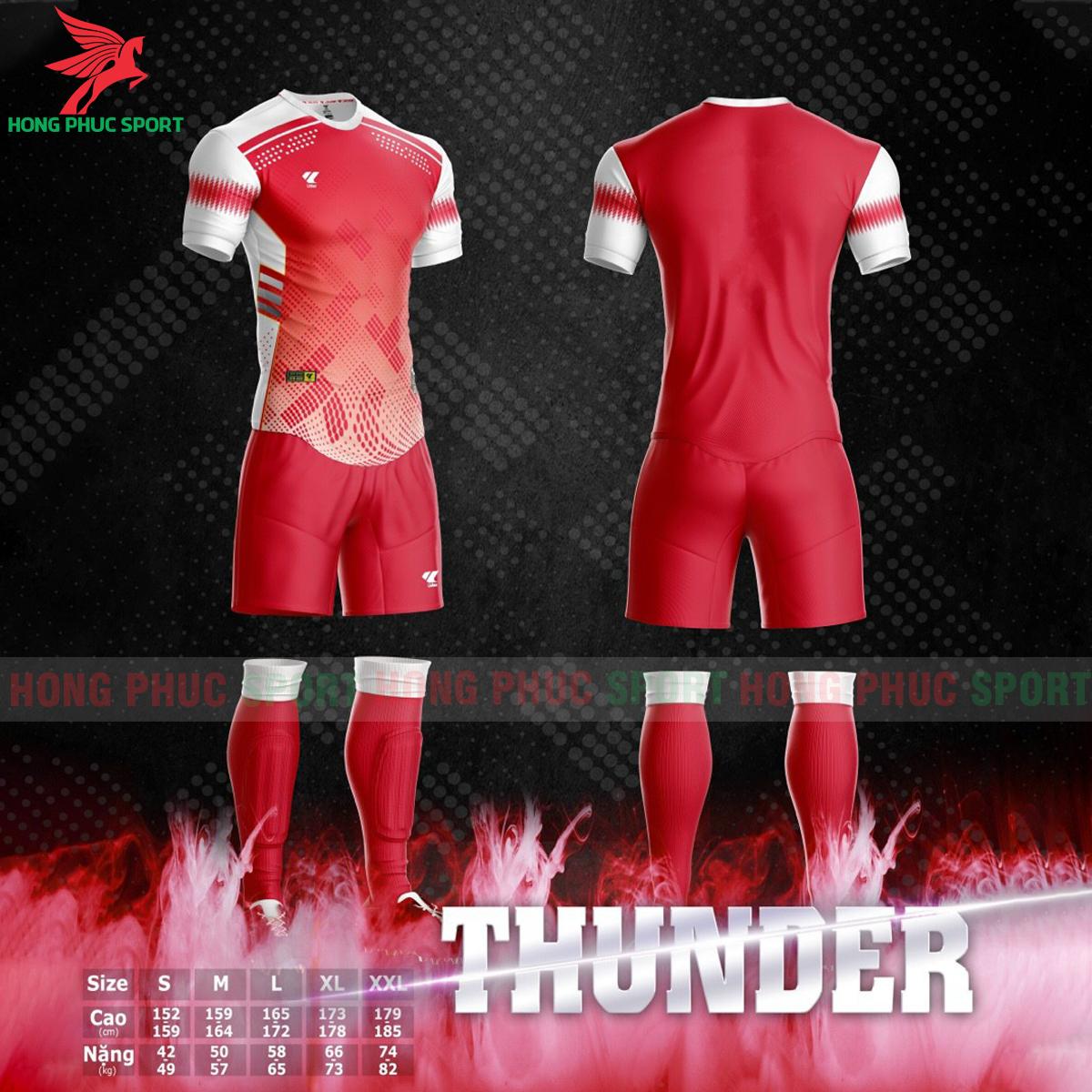 Áo bóng đá không logo Lidas Thundermàu đỏ