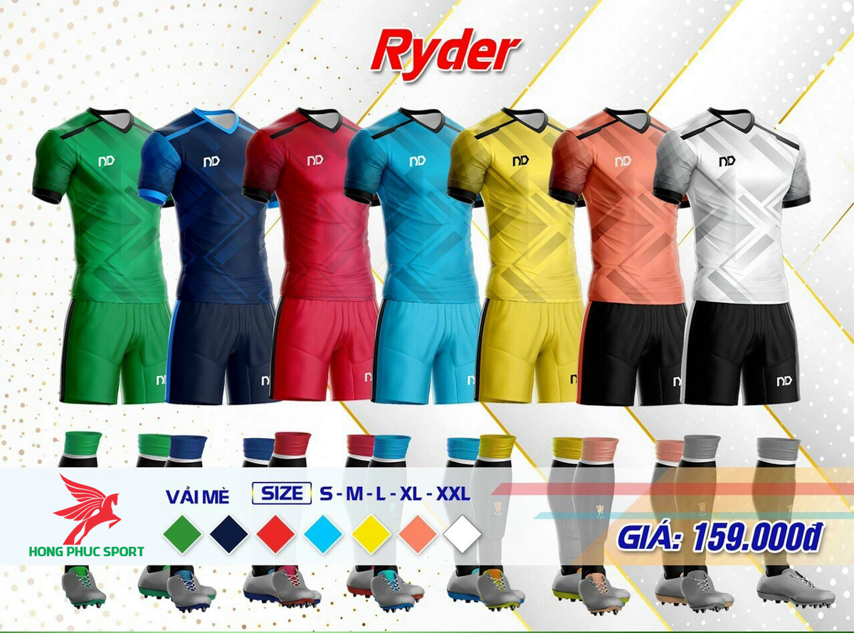 áo đá bóng không logo ND Ryder2021