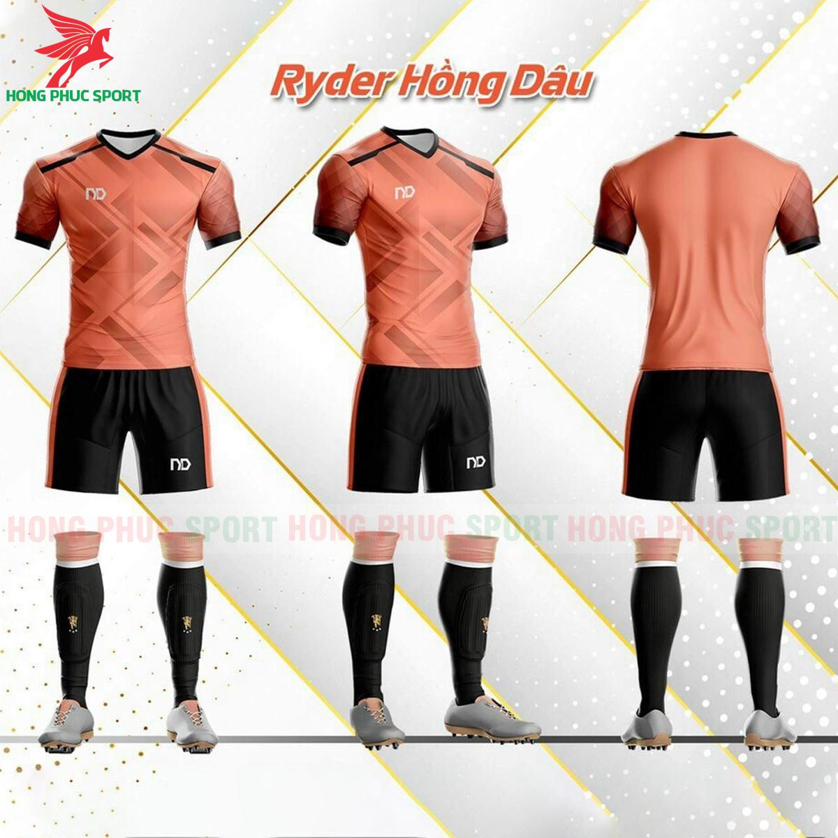 Áo đá banh không logo ND Ryder2021 màu Hồng dâu