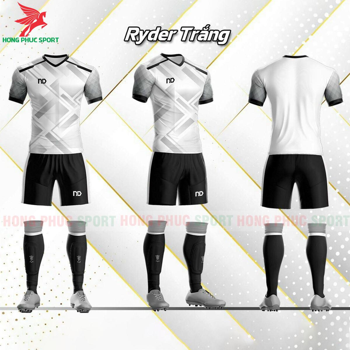Áo đá banh không logo ND Ryder2021 màu trắng