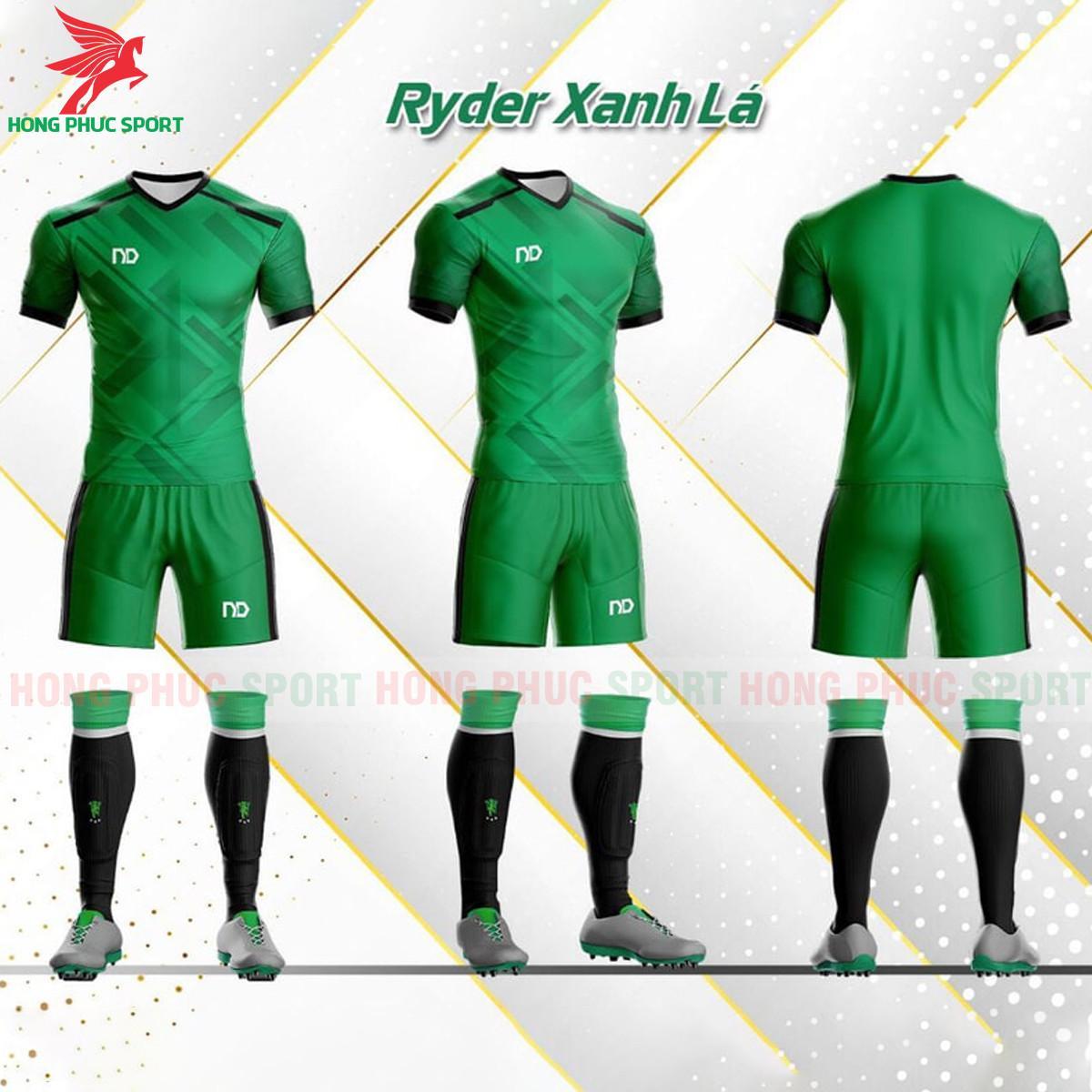Áo đá banh không logo ND Ryder2021 màu xanh lá