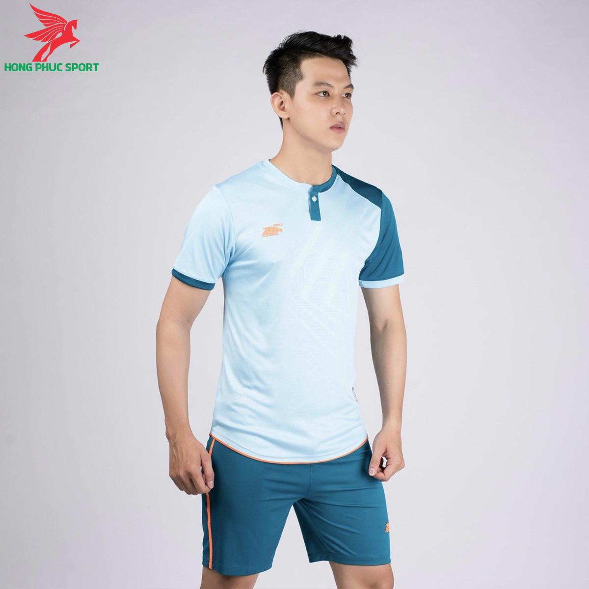 áo bóng đá không logo Riki Lostoran xanh dương
