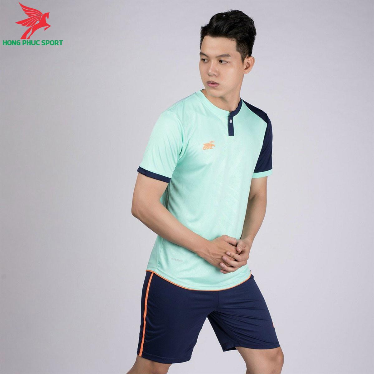 áo bóng đá không logo Riki Lostoran xanh ngọc