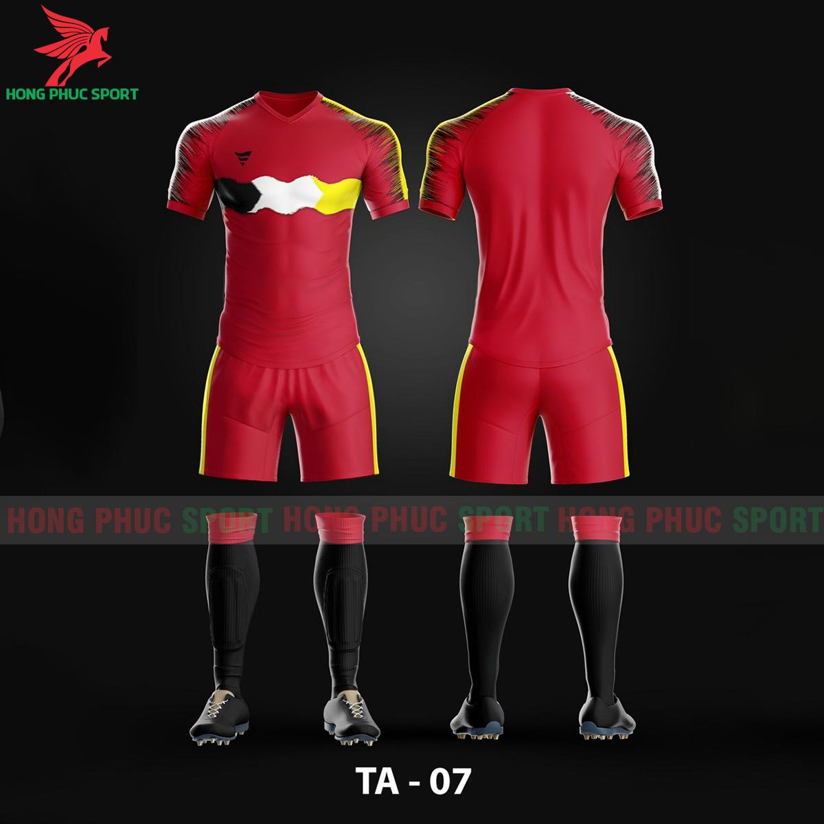 Áo bóng đá không logo TA-A07màu Đỏ