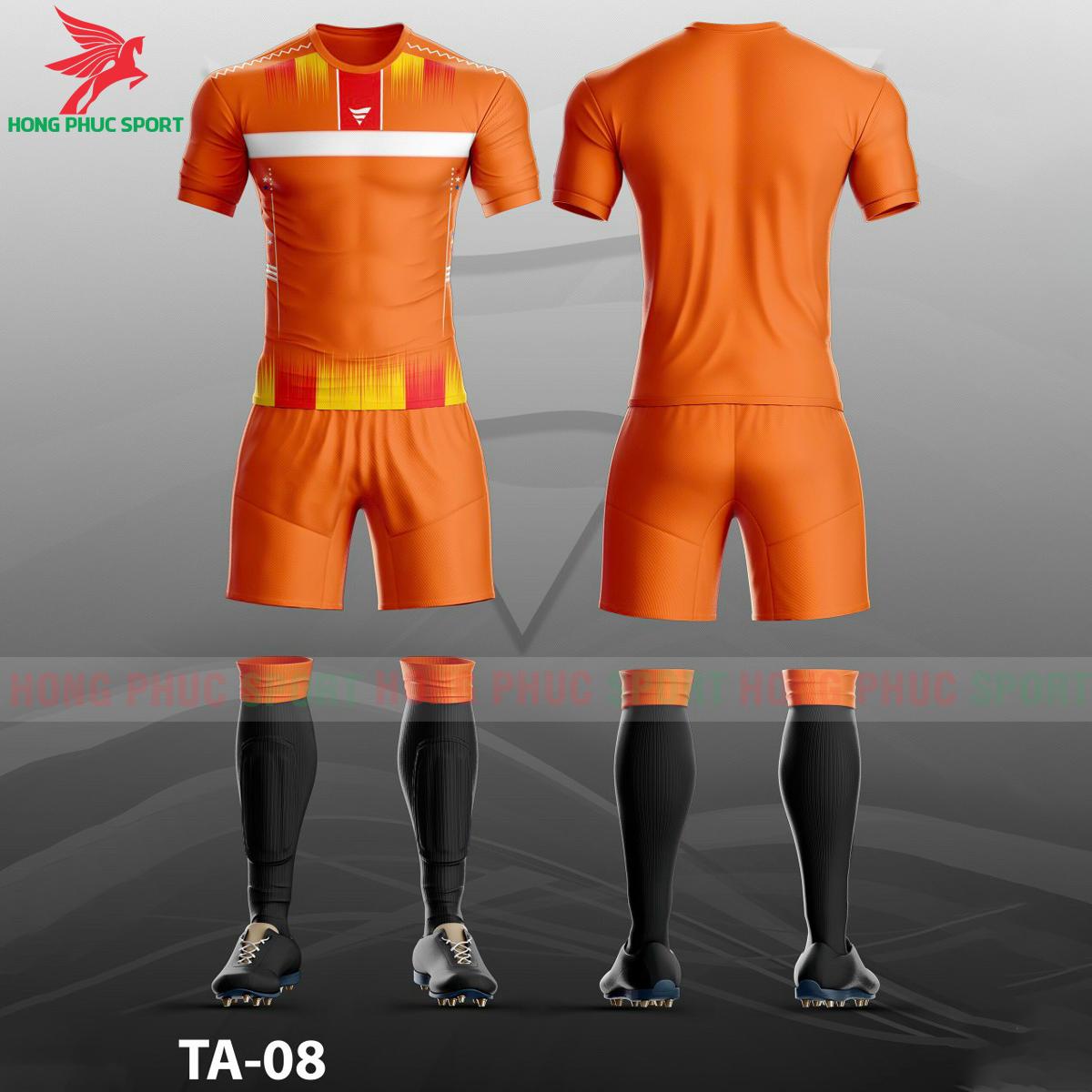 Áo bóng đá không logo TA-A08màu Cam