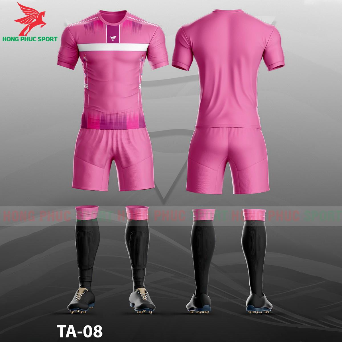 Áo bóng đá không logo TA-A08màu Hồng