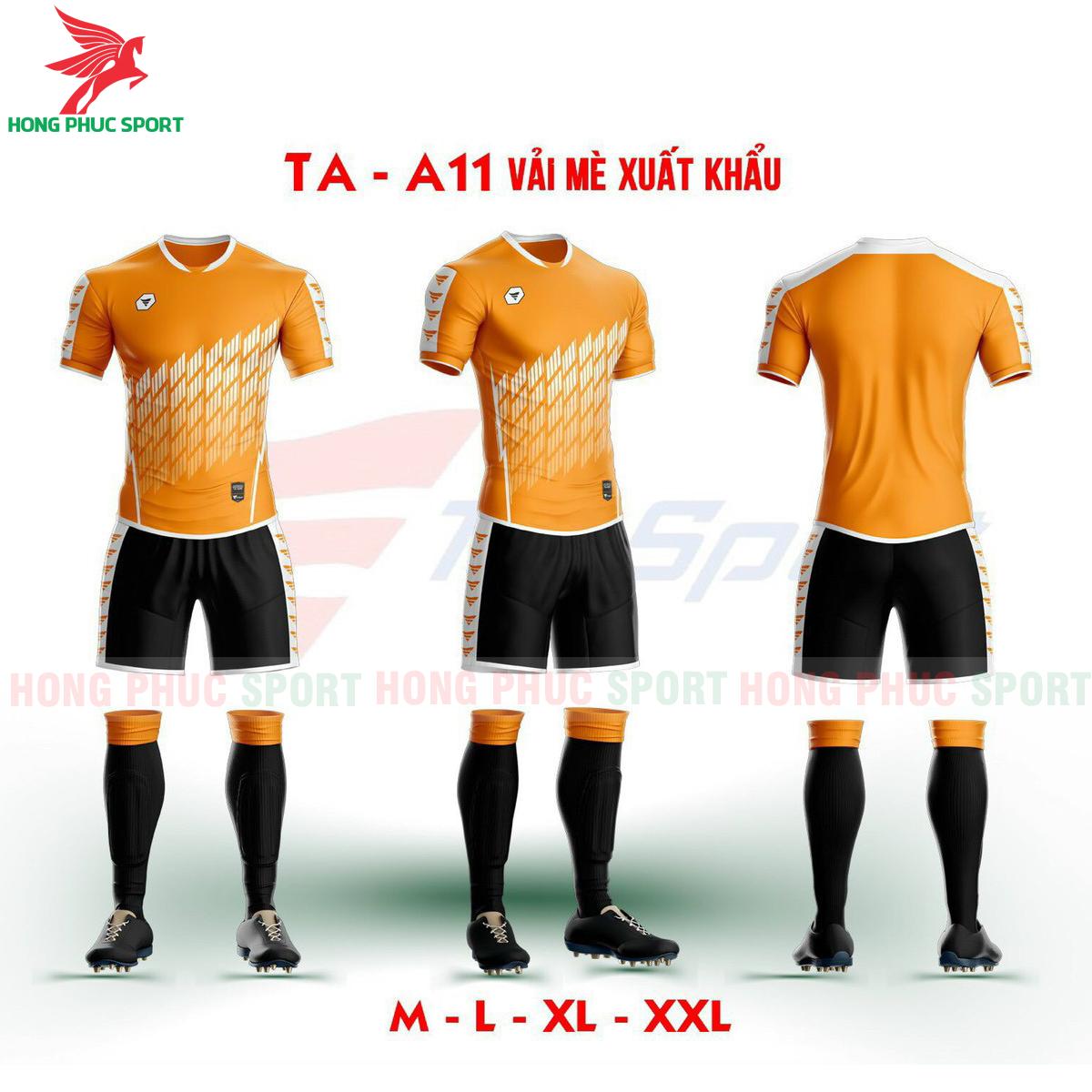Áo bóng đá không logo TA-A11màuCam