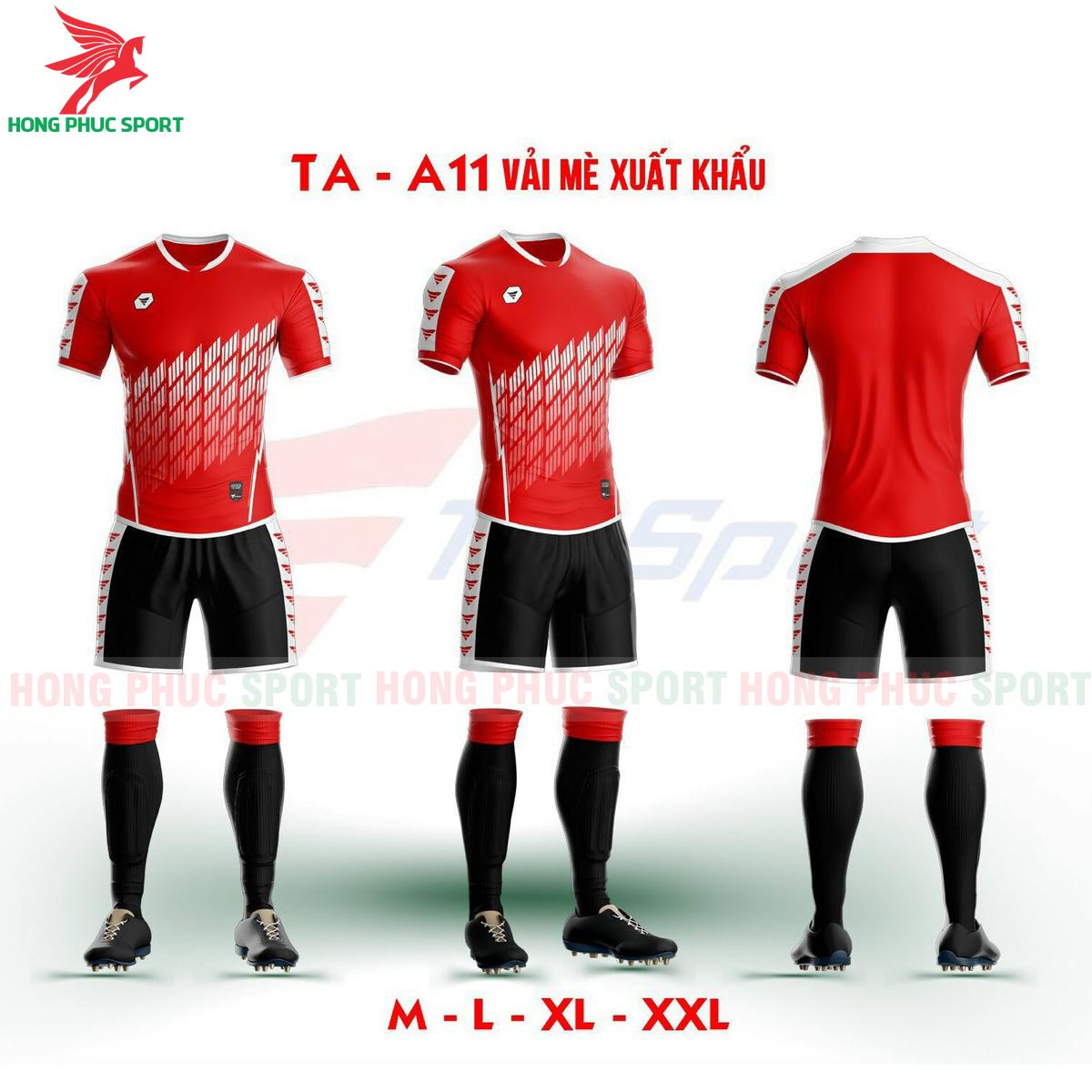 Áo bóng đá không logo TA-A11màu Đỏ