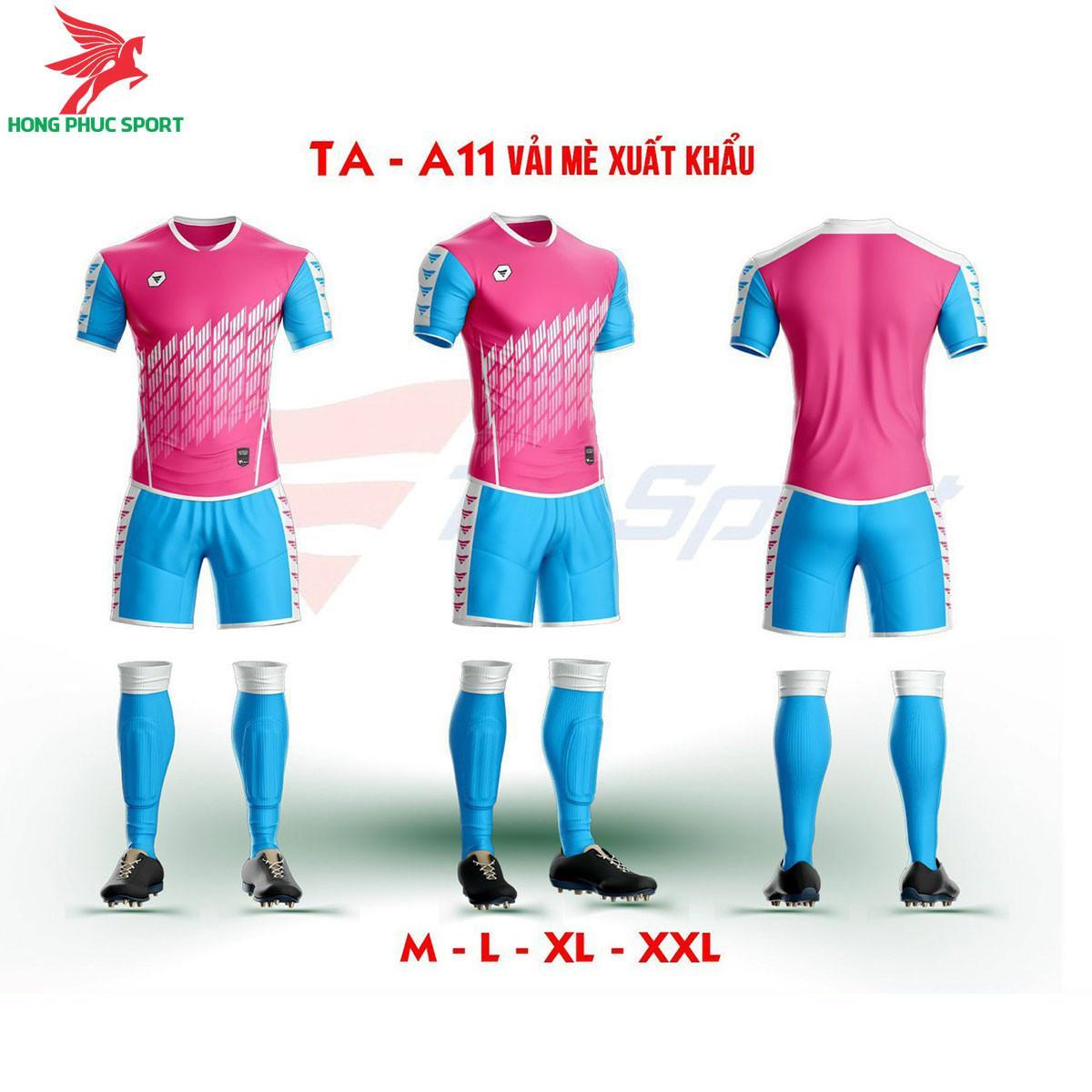 Áo bóng đá không logo TA-A11màuHồng