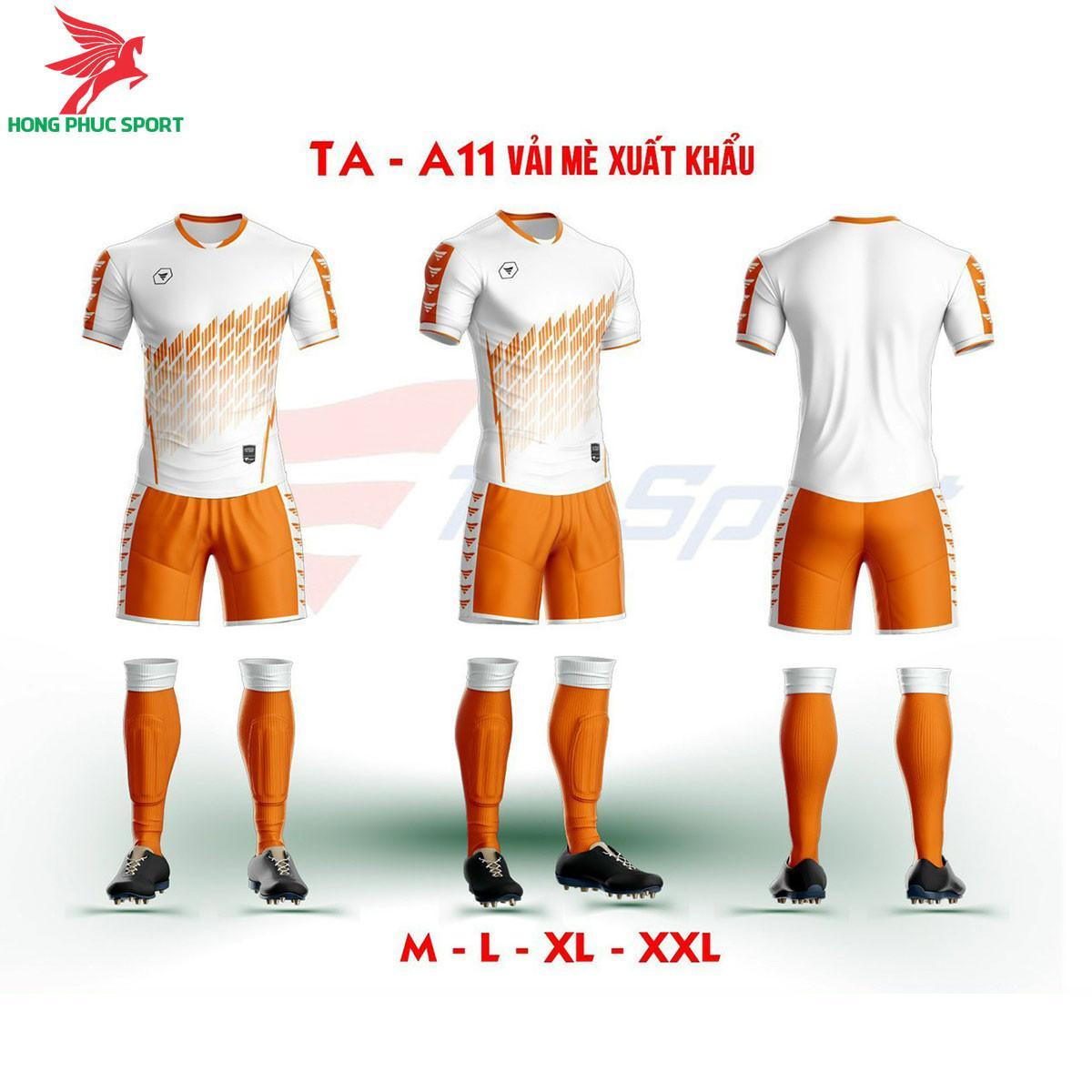 Áo bóng đá không logo TA-A11màuTrắng