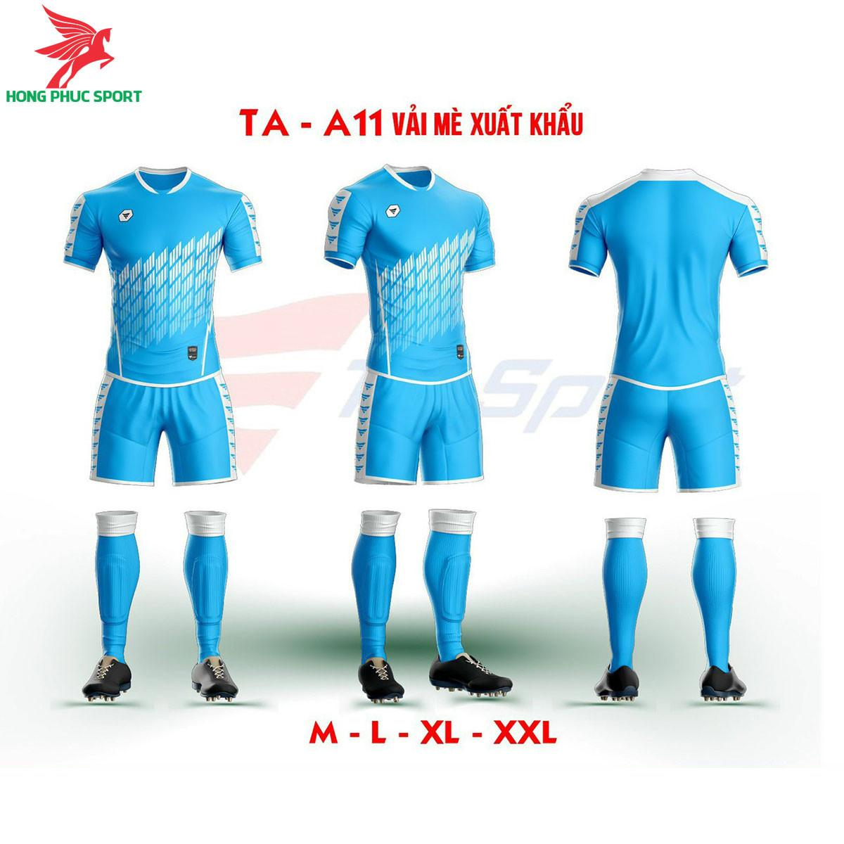Áo bóng đá không logo TA-A11màuXanh