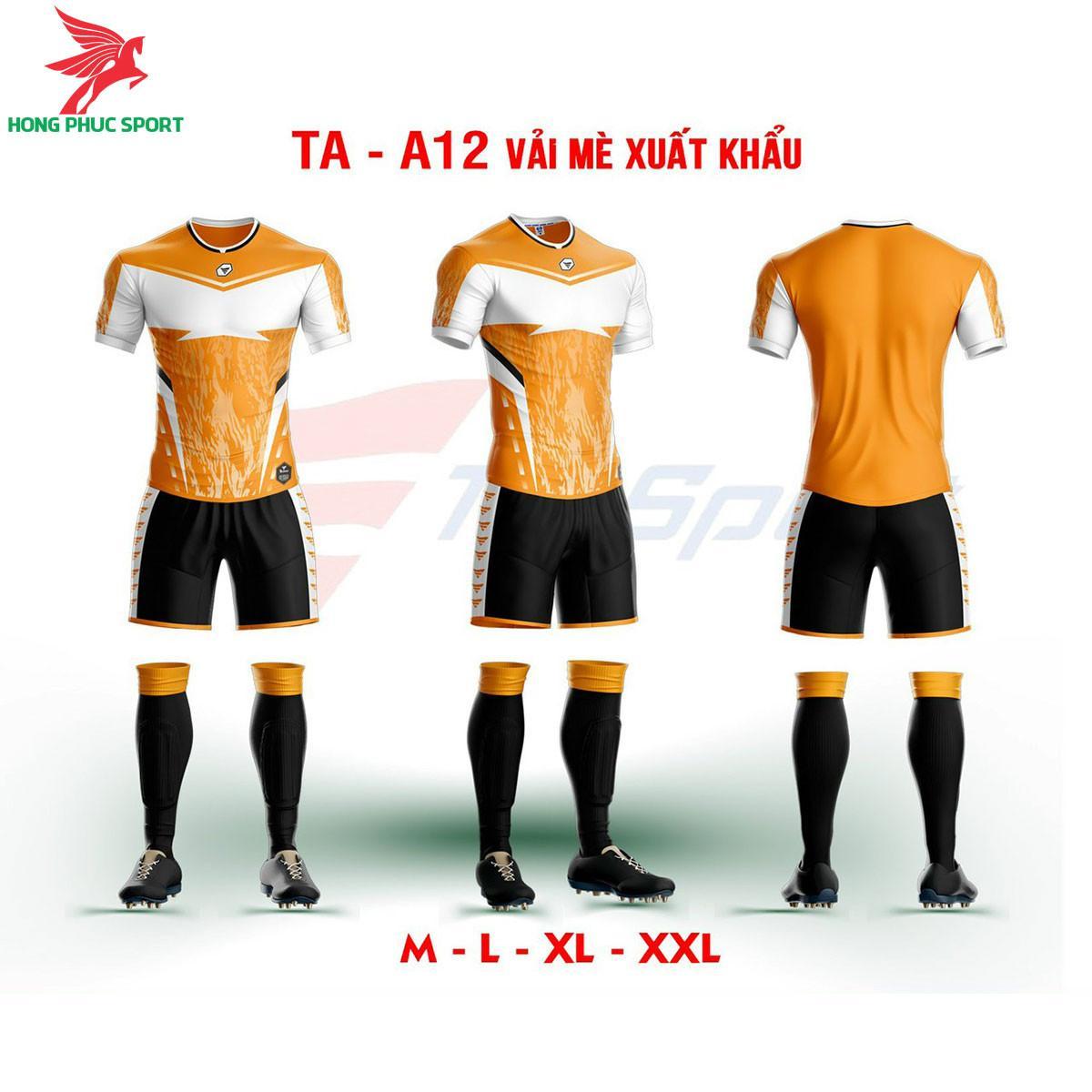 Áo bóng đá không logo TA-A12màu Cam