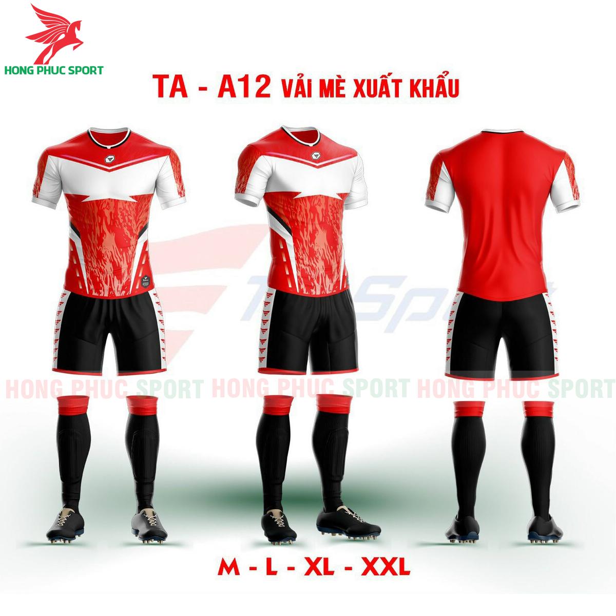 Áo bóng đá không logo TA-A12 màu đỏ