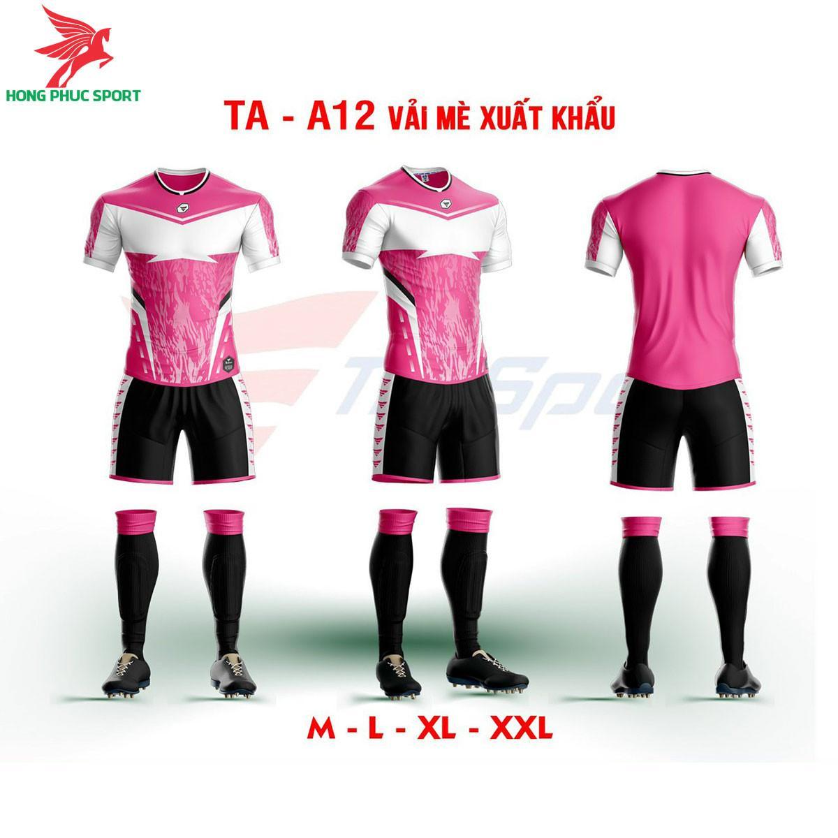 Áo bóng đá không logo TA-A12màu Hồng
