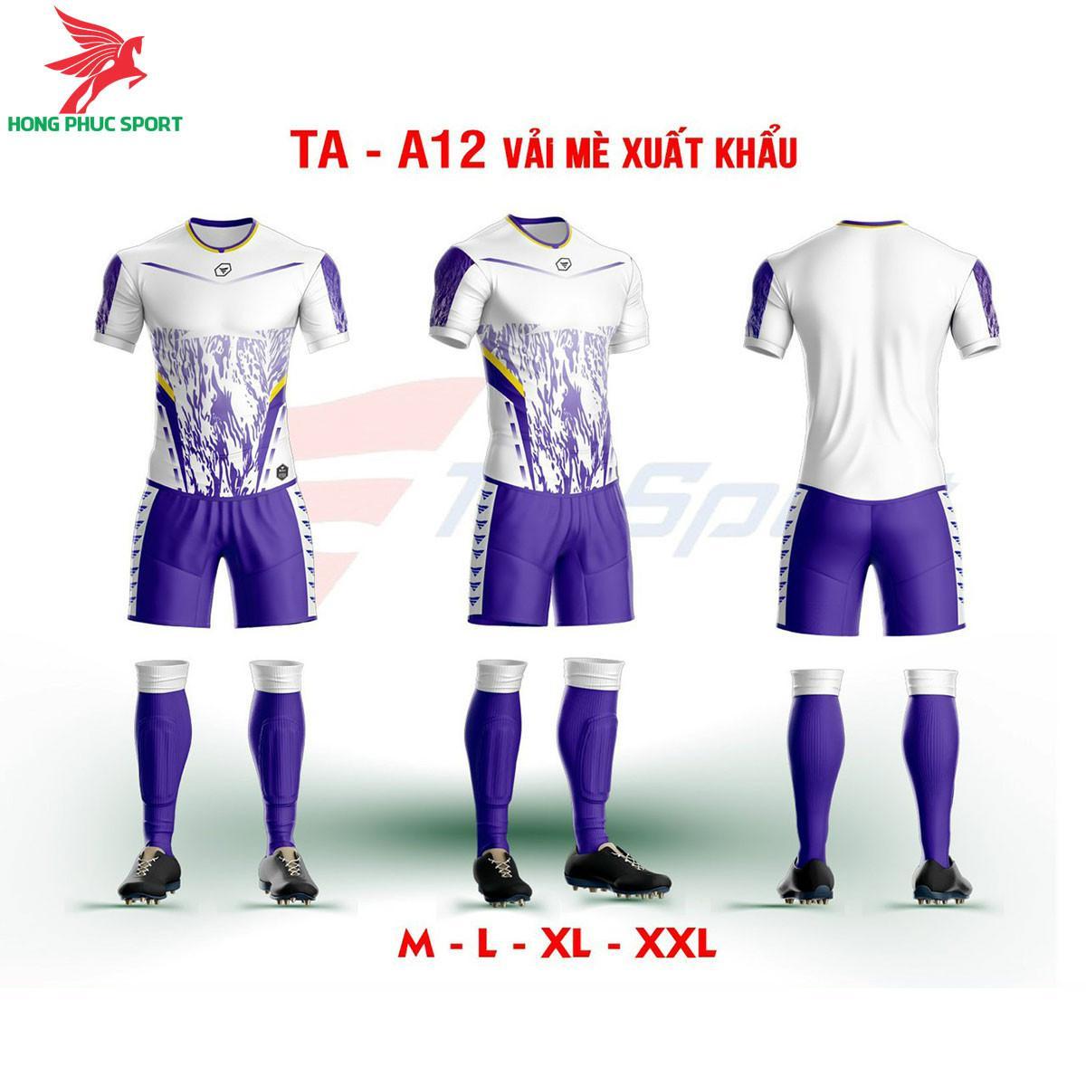Áo bóng đá không logo TA-A12màu Tím