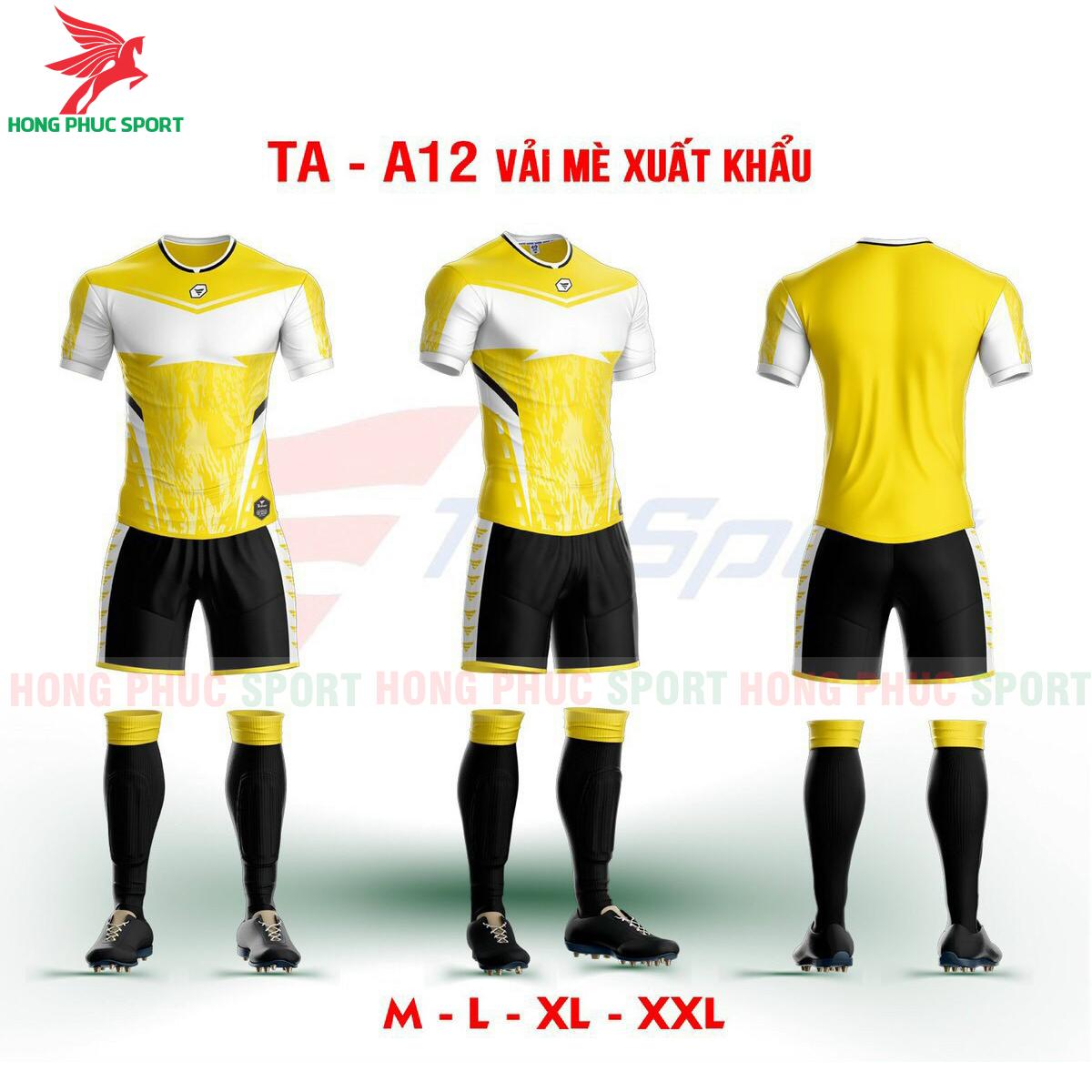 Áo bóng đá không logo TA-A12màu Vàng