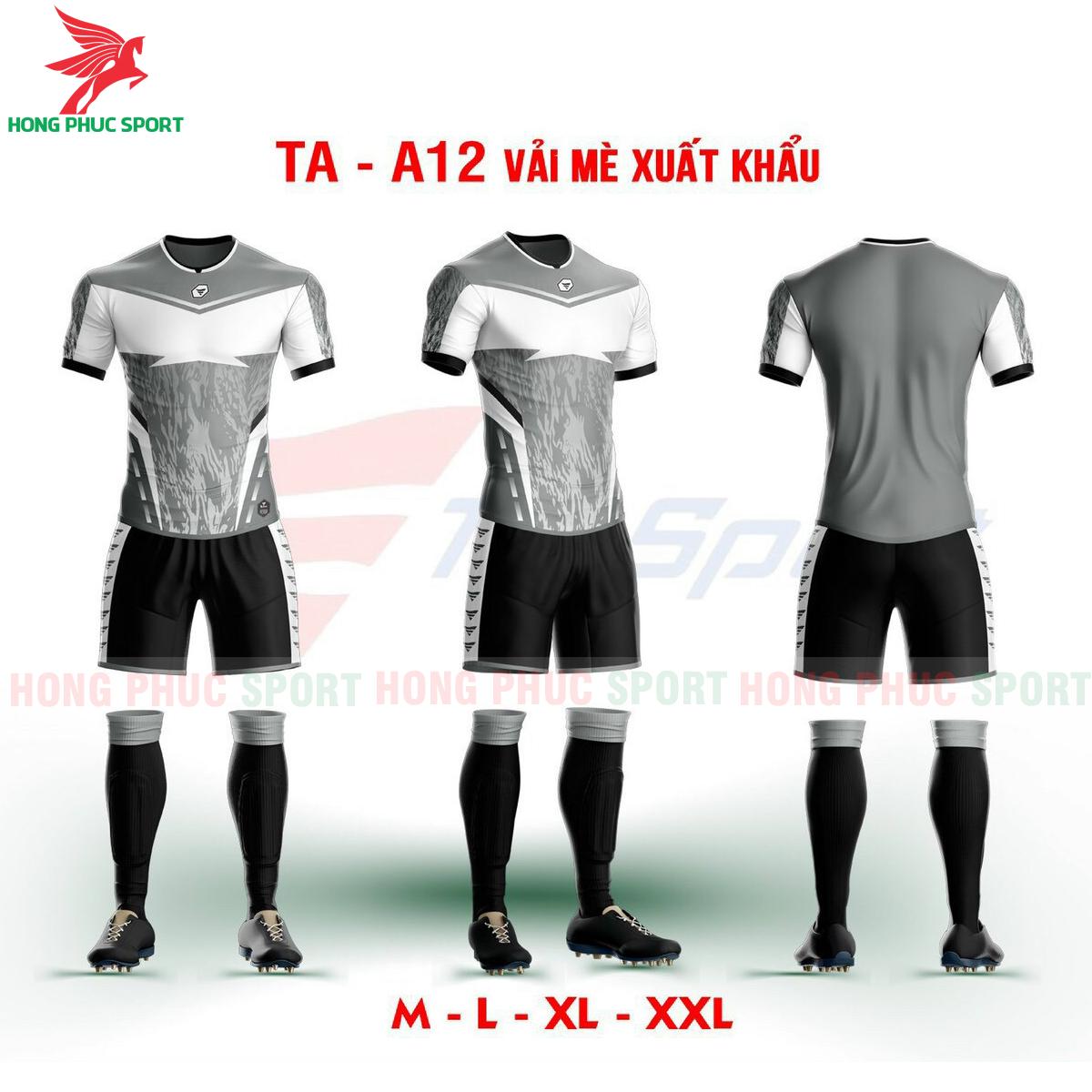 Áo bóng đá không logo TA-A12màu Xám