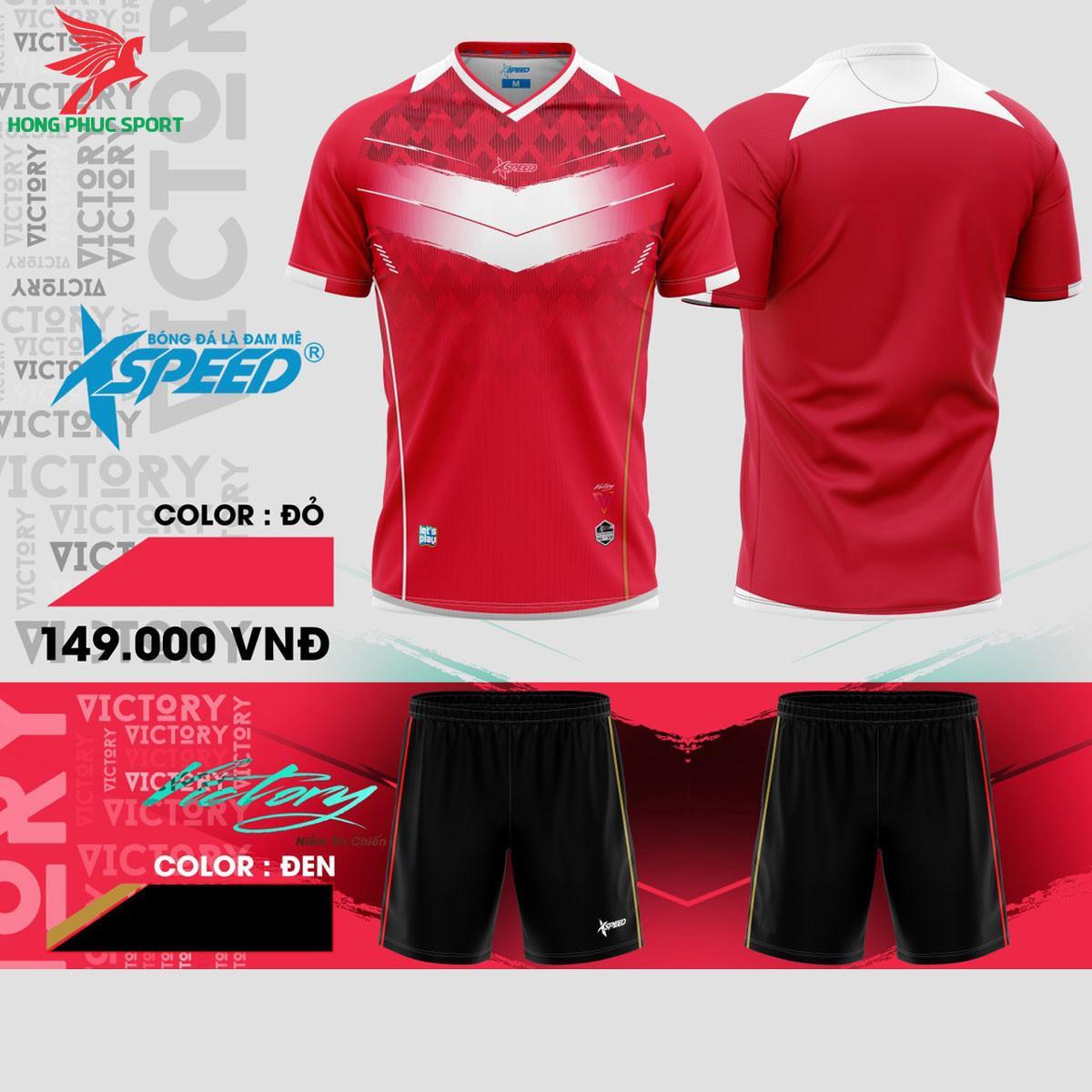 Áo đá banh không logo Xspeed S8 Đỏ