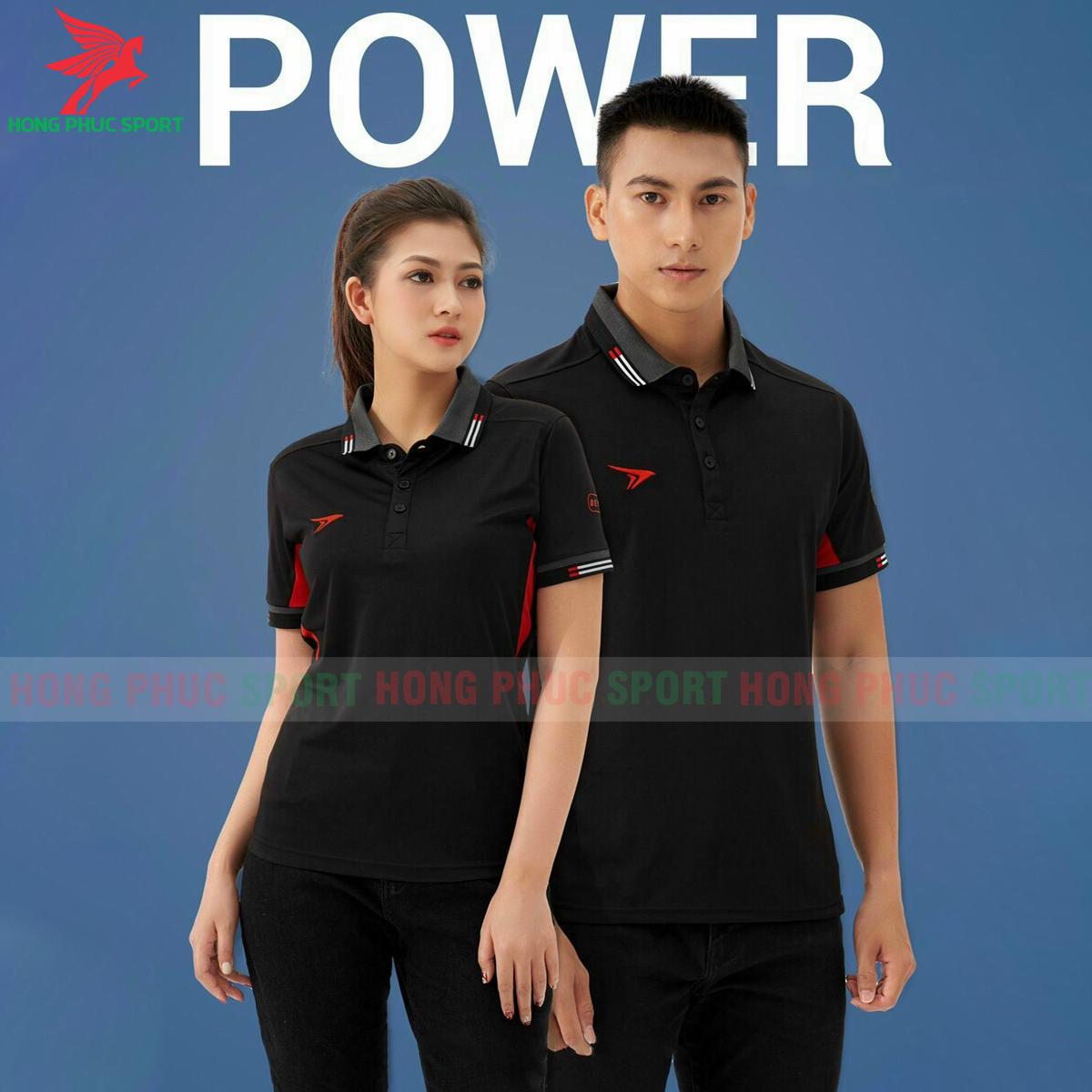 Áo di chuyển PoloBeyono Power2021 màu đen