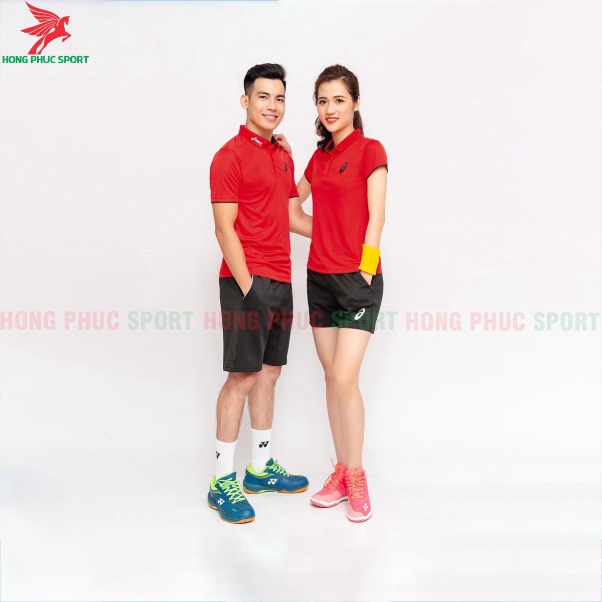 Quần áo tennis Asic 2020 màu đỏ