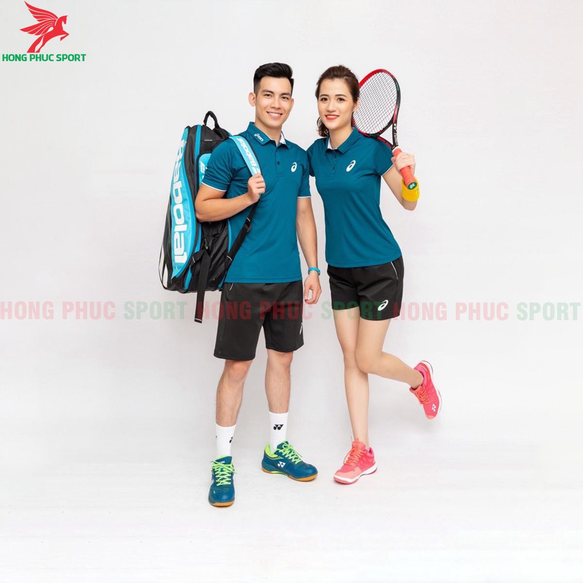 Quần áo tennis Asic 2020 màu xanh bích