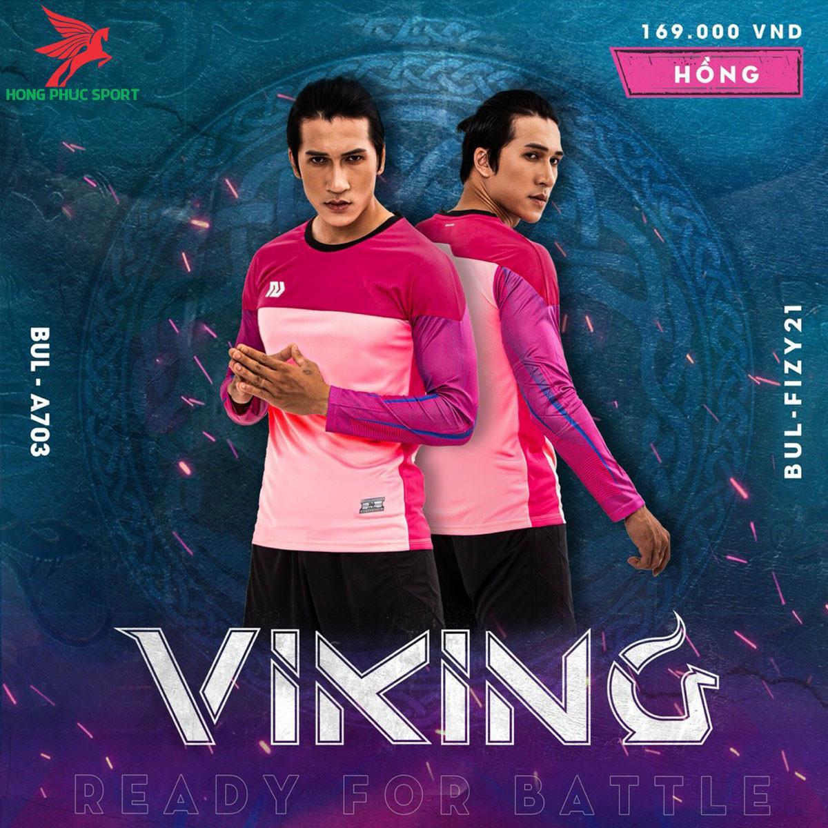 Áo bóng đá thủ môn Bulbal Viking 2021màu Hồng