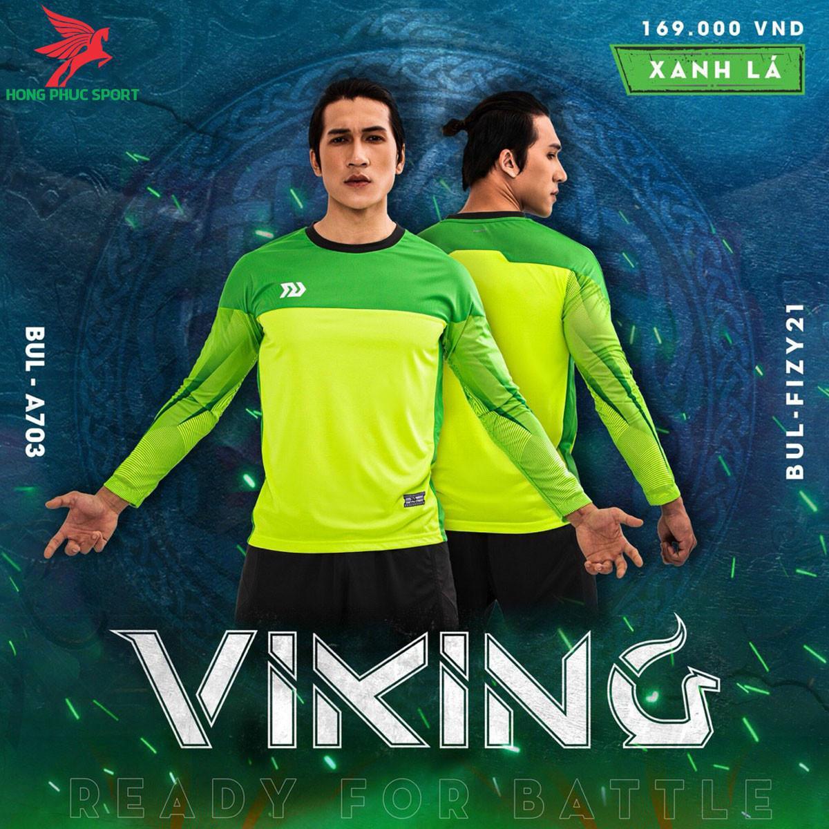 Áo bóng đá thủ môn Bulbal Viking 2021màu Xanh lá