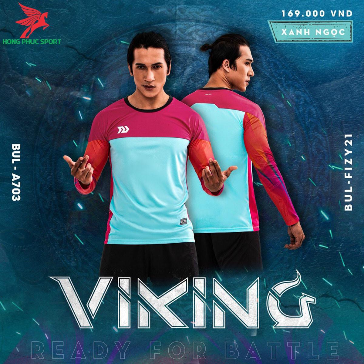 Áo bóng đá thủ môn Bulbal Viking 2021màu xanh ngọc